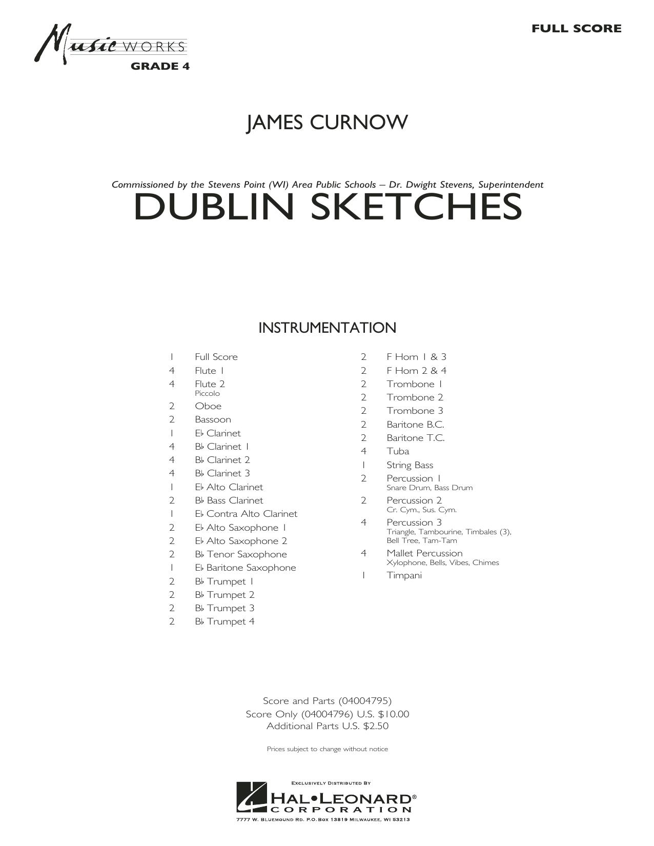 Dublin Sketches - Conductor Score (Full Score) (Concert Band)