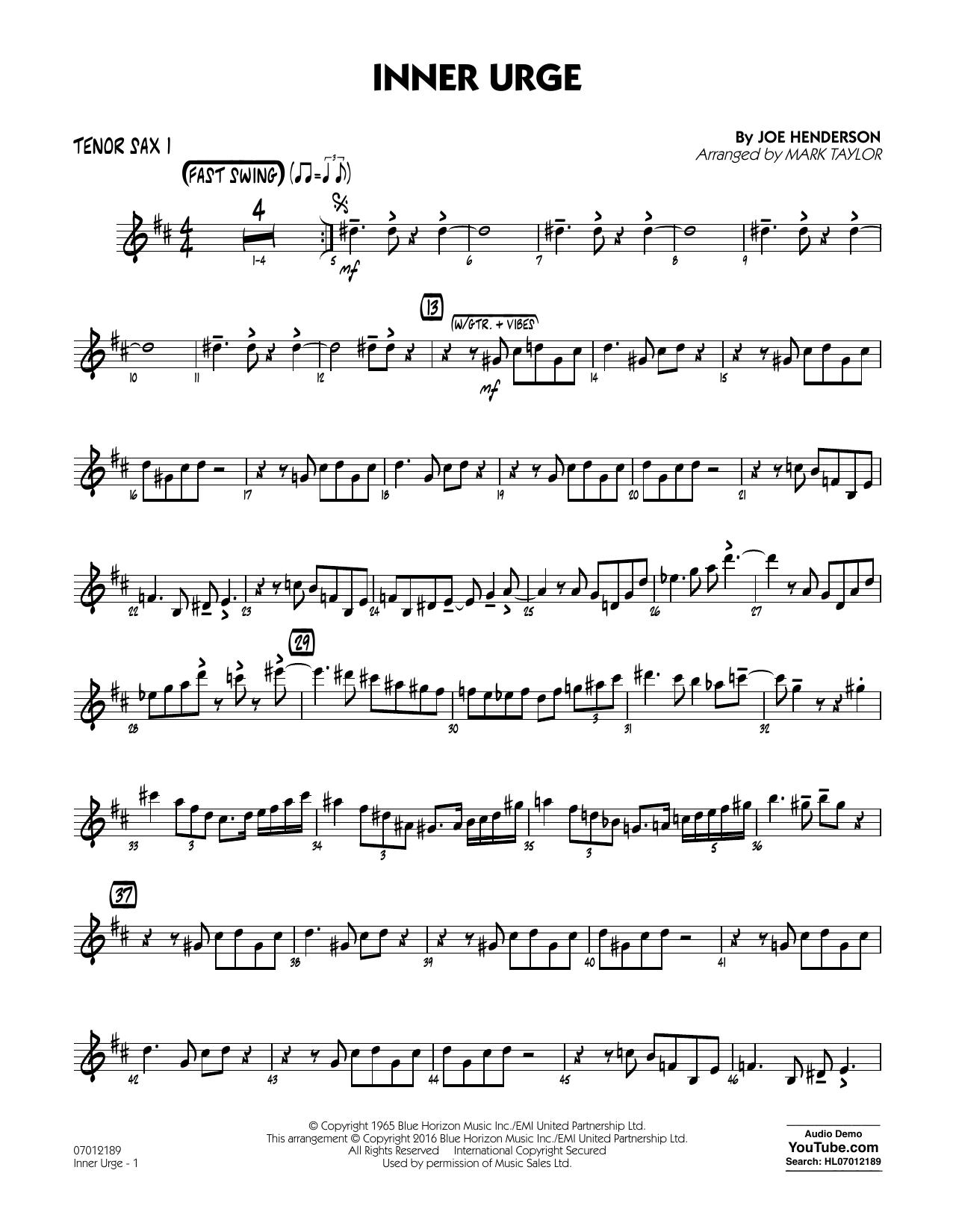Inner Urge - Tenor Sax 1 (Jazz Ensemble)