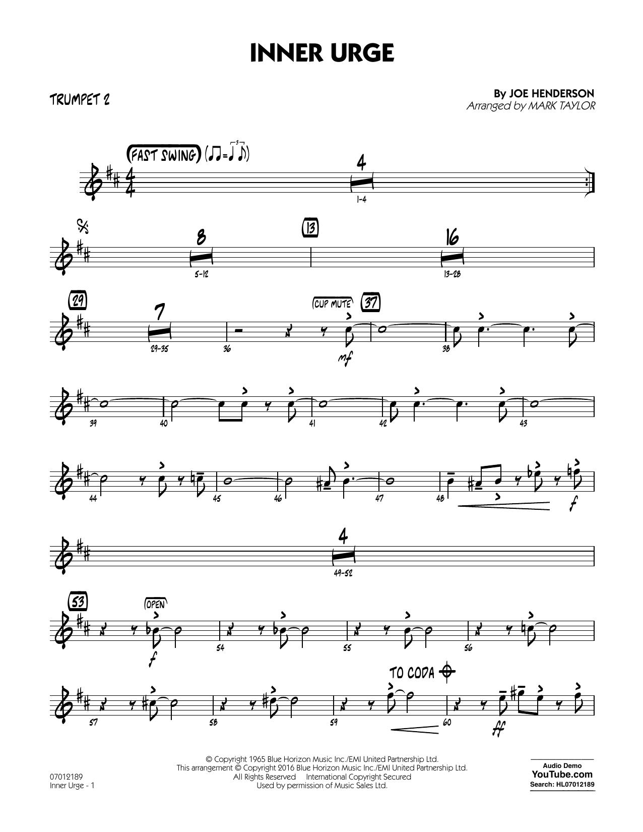 Inner Urge - Trumpet 2 (Jazz Ensemble)