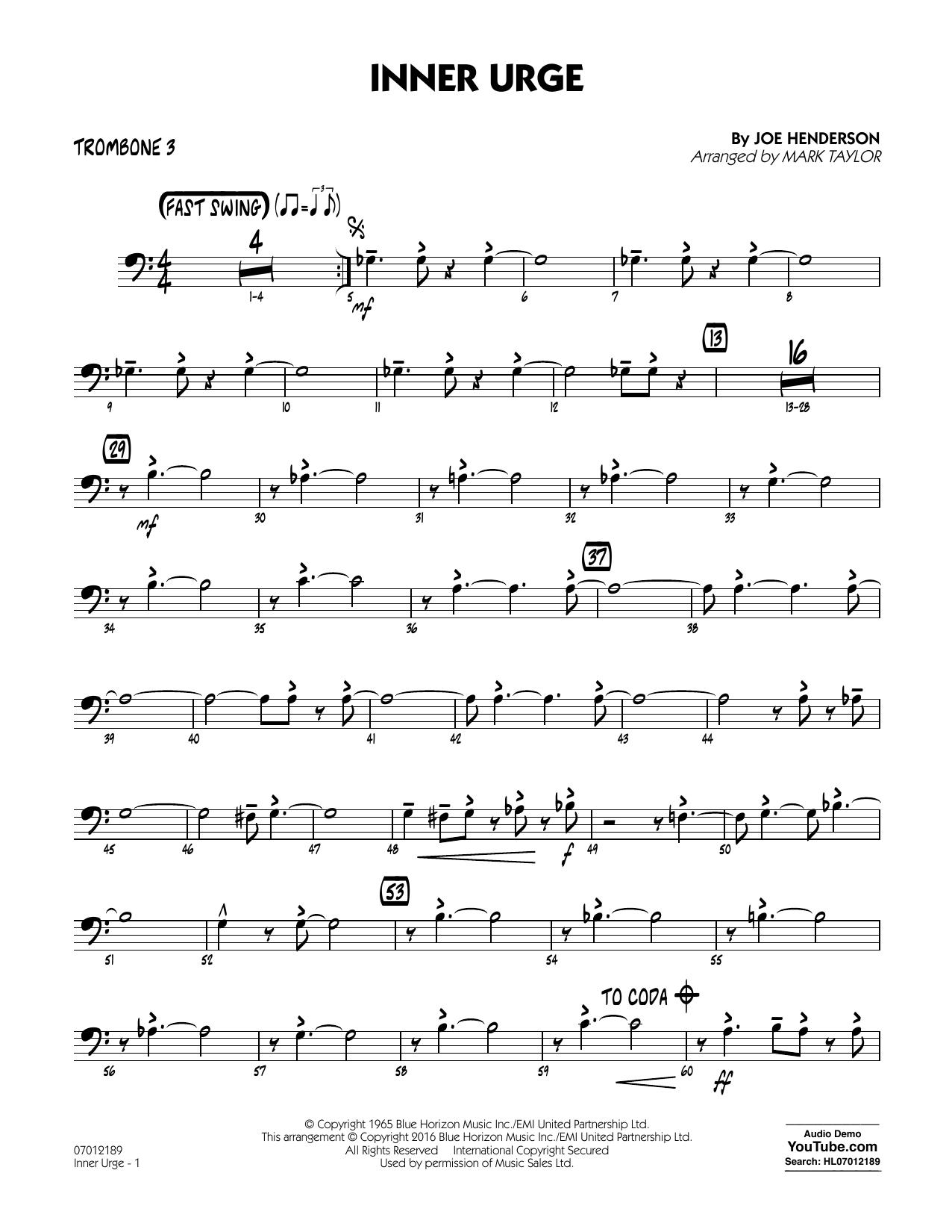 Inner Urge - Trombone 3 (Jazz Ensemble)