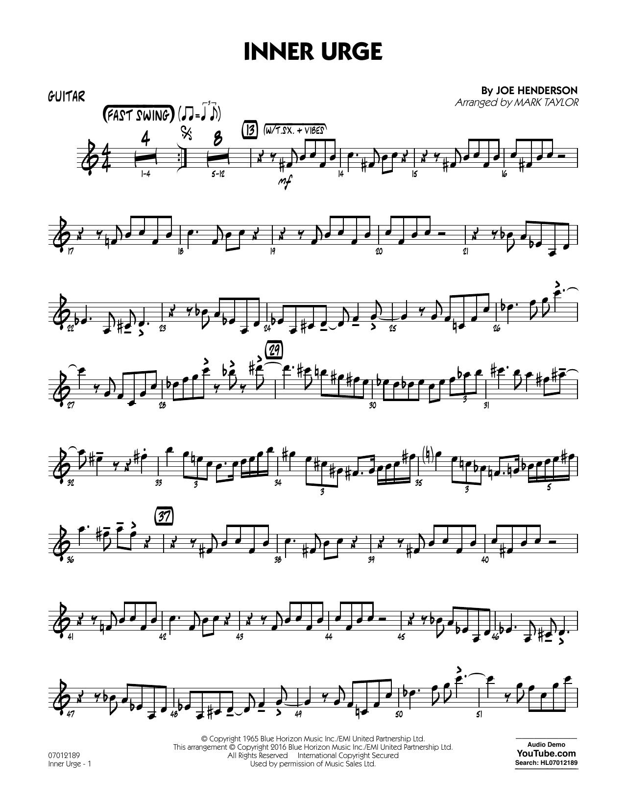 Inner Urge - Guitar (Jazz Ensemble)