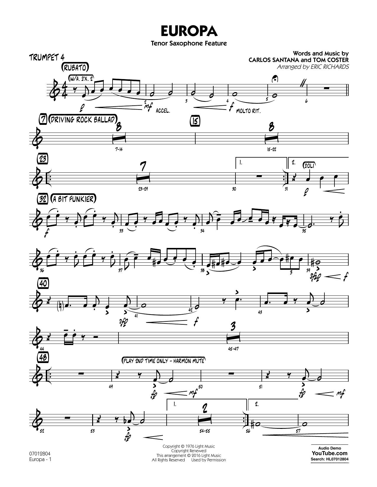 Europa - Trumpet 4 (Jazz Ensemble)