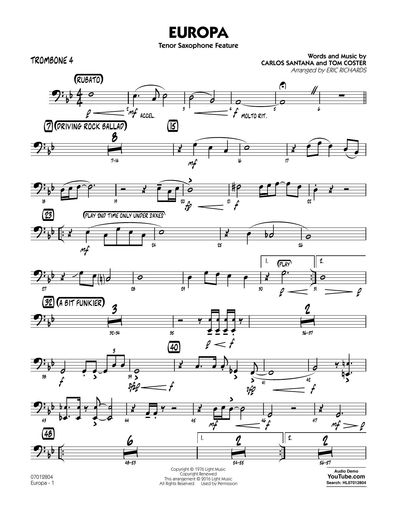 Europa - Trombone 4 (Jazz Ensemble)