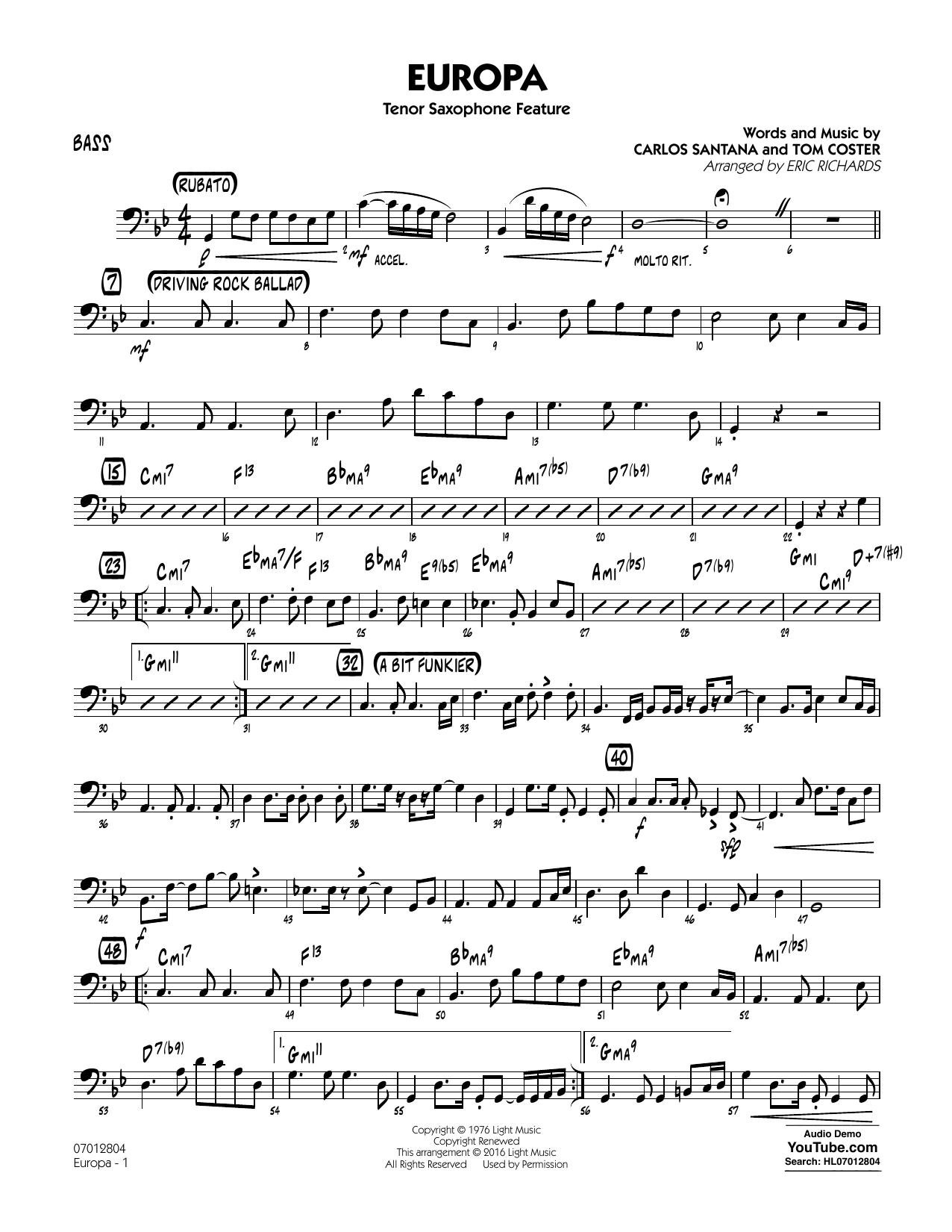 Europa - Bass (Jazz Ensemble)