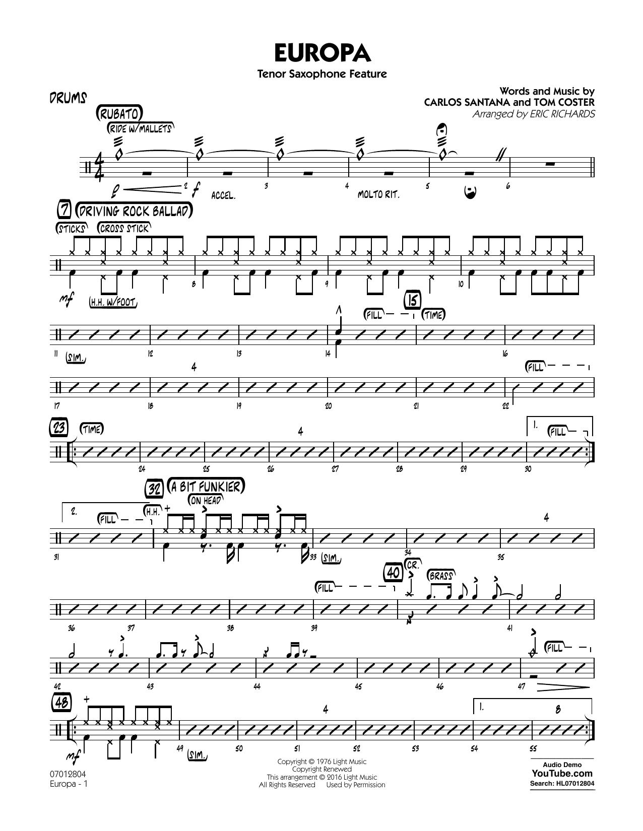 Europa - Drums (Jazz Ensemble)