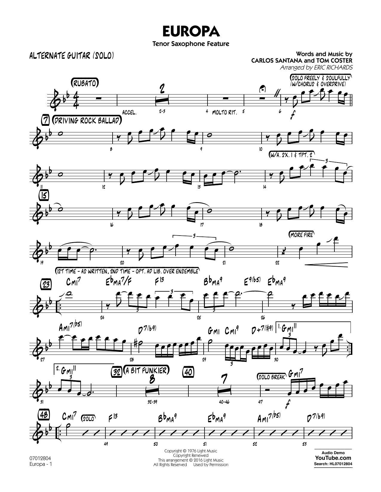 Europa - Alternate Guitar (Solo) (Jazz Ensemble)