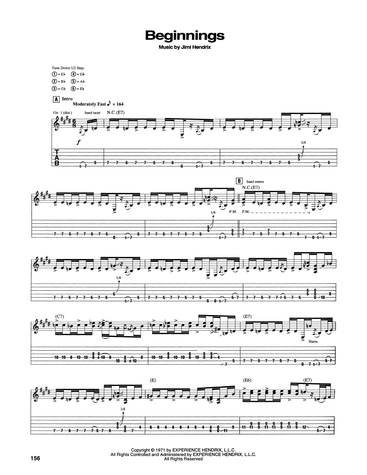 Beginnings Sheet Music