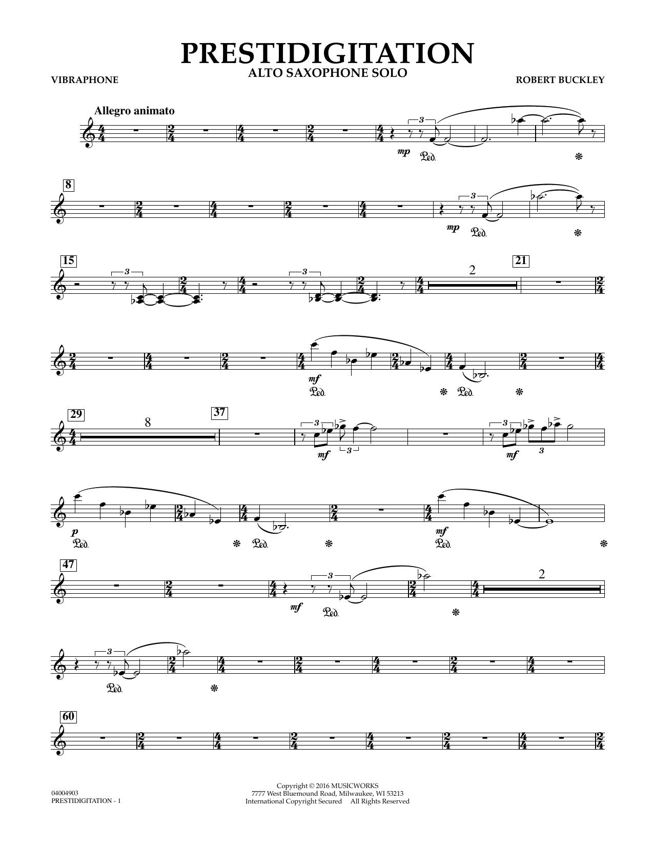 Prestidigitation (Alto Saxophone Solo with Band) - Vibraphone (Concert Band)