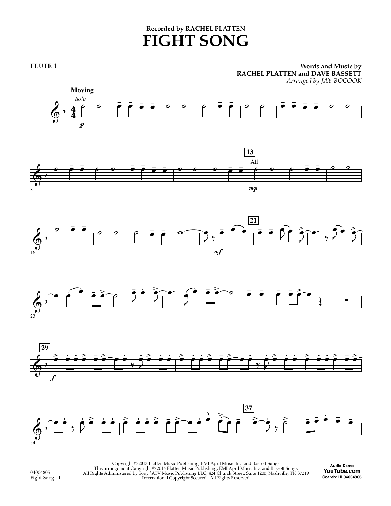 Fight Song - Flute 1 - Sheet Music to Download