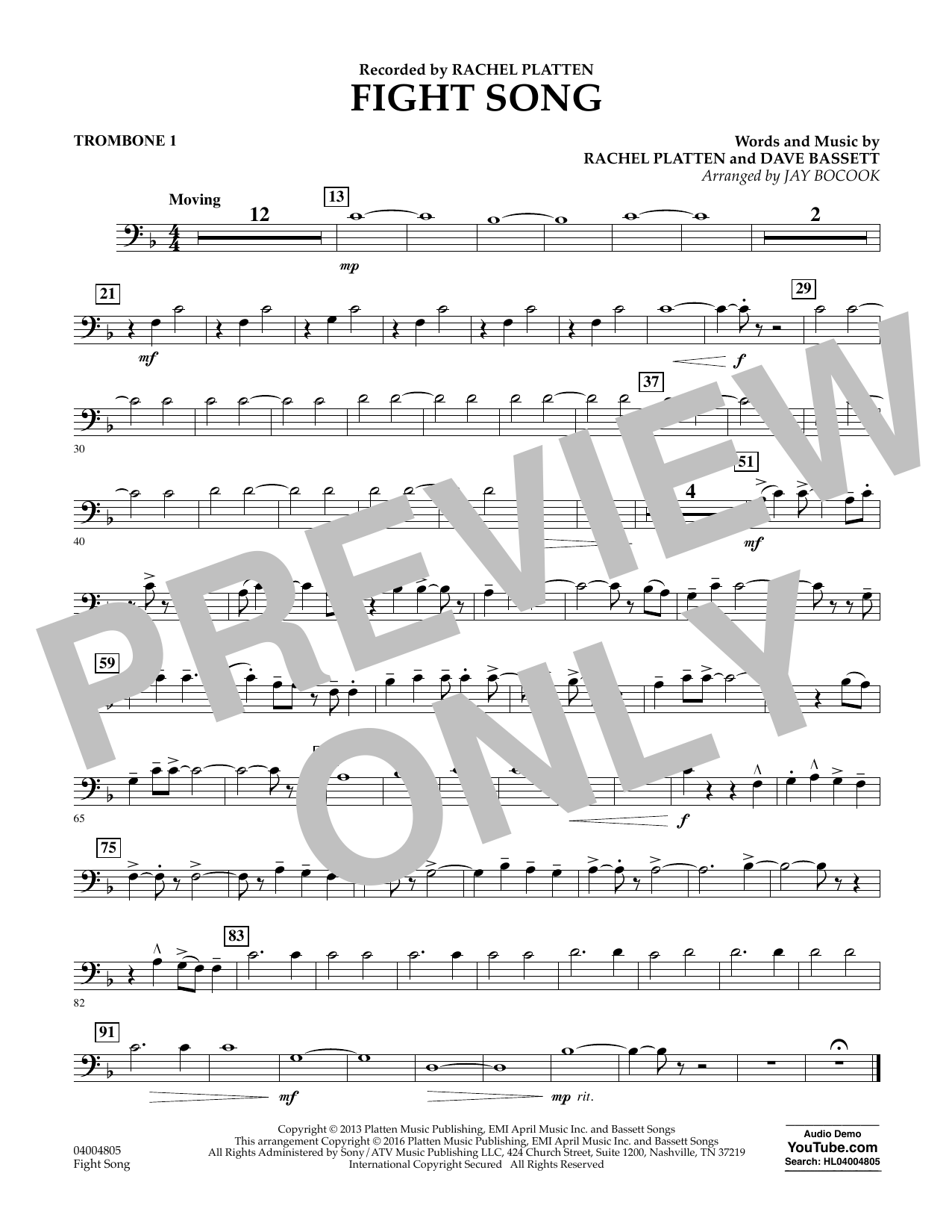 Fight Song - Trombone 1 (Concert Band)