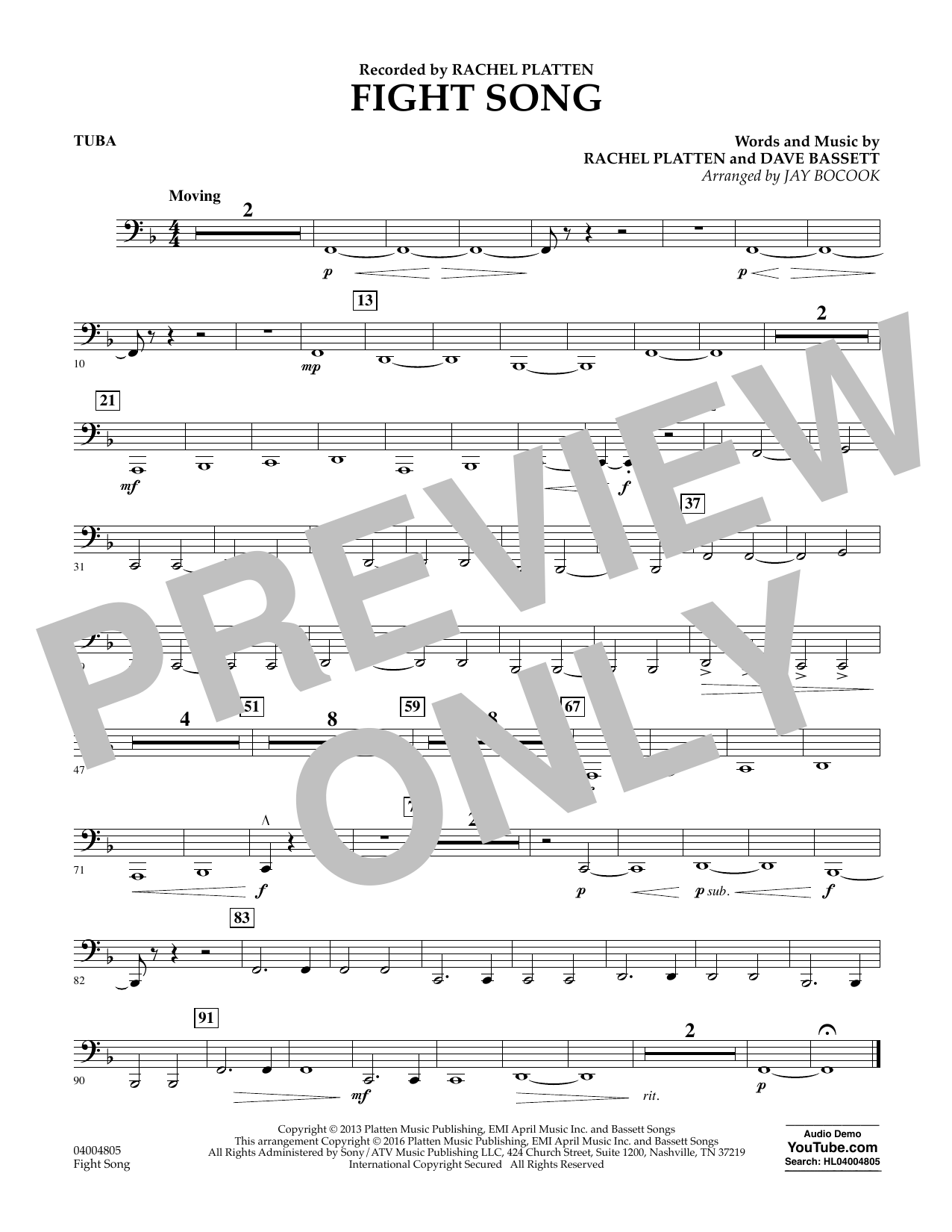 Fight Song - Tuba (Concert Band)