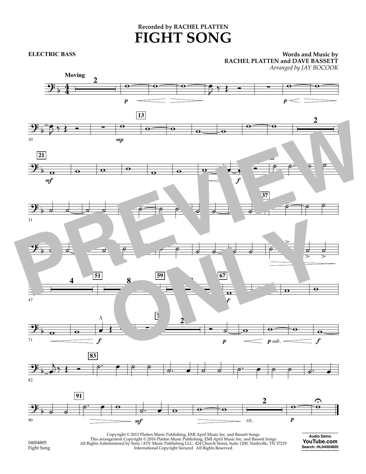 Fight Song - Electric Bass (Concert Band)