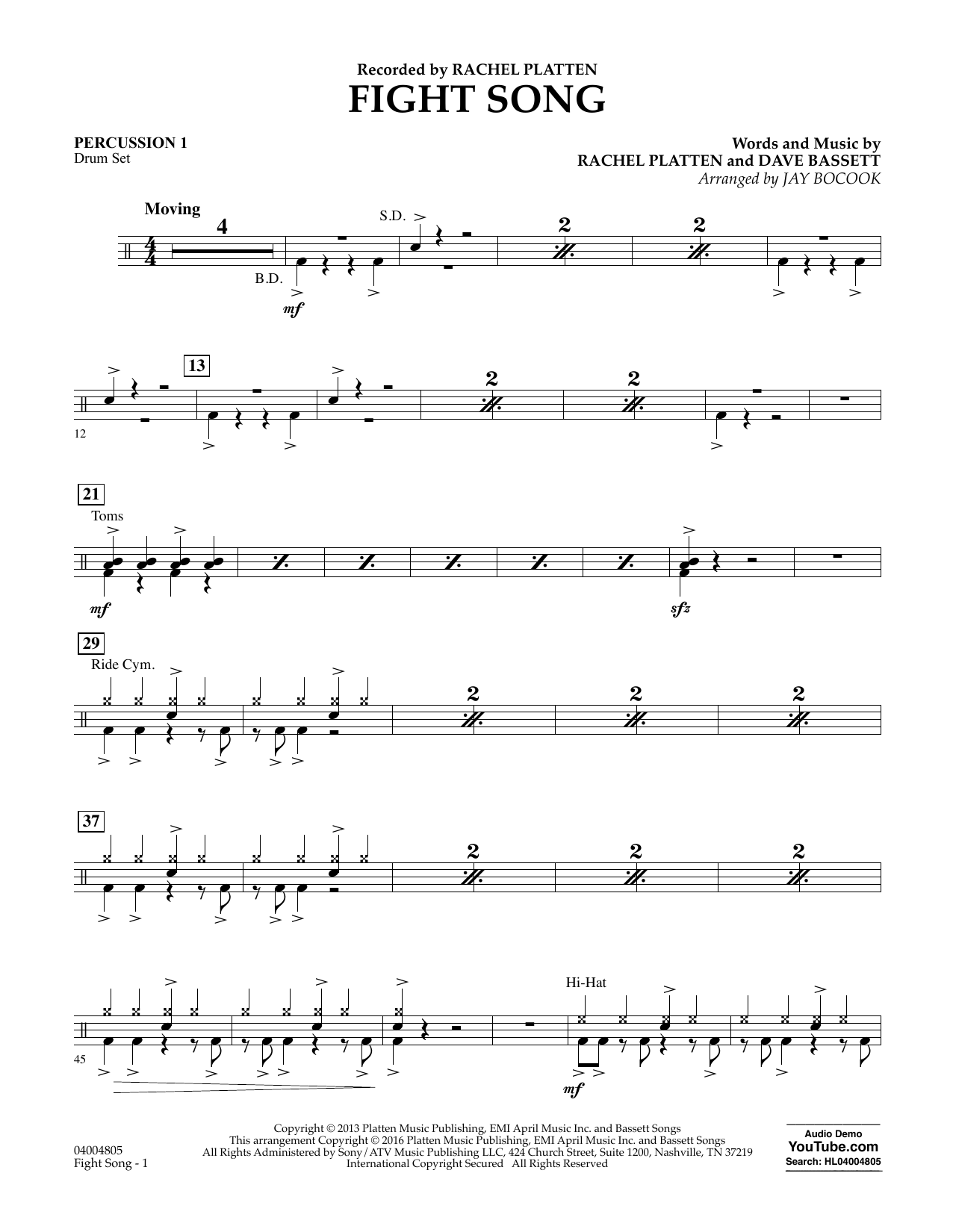 Fight Song - Percussion 1 (Concert Band)