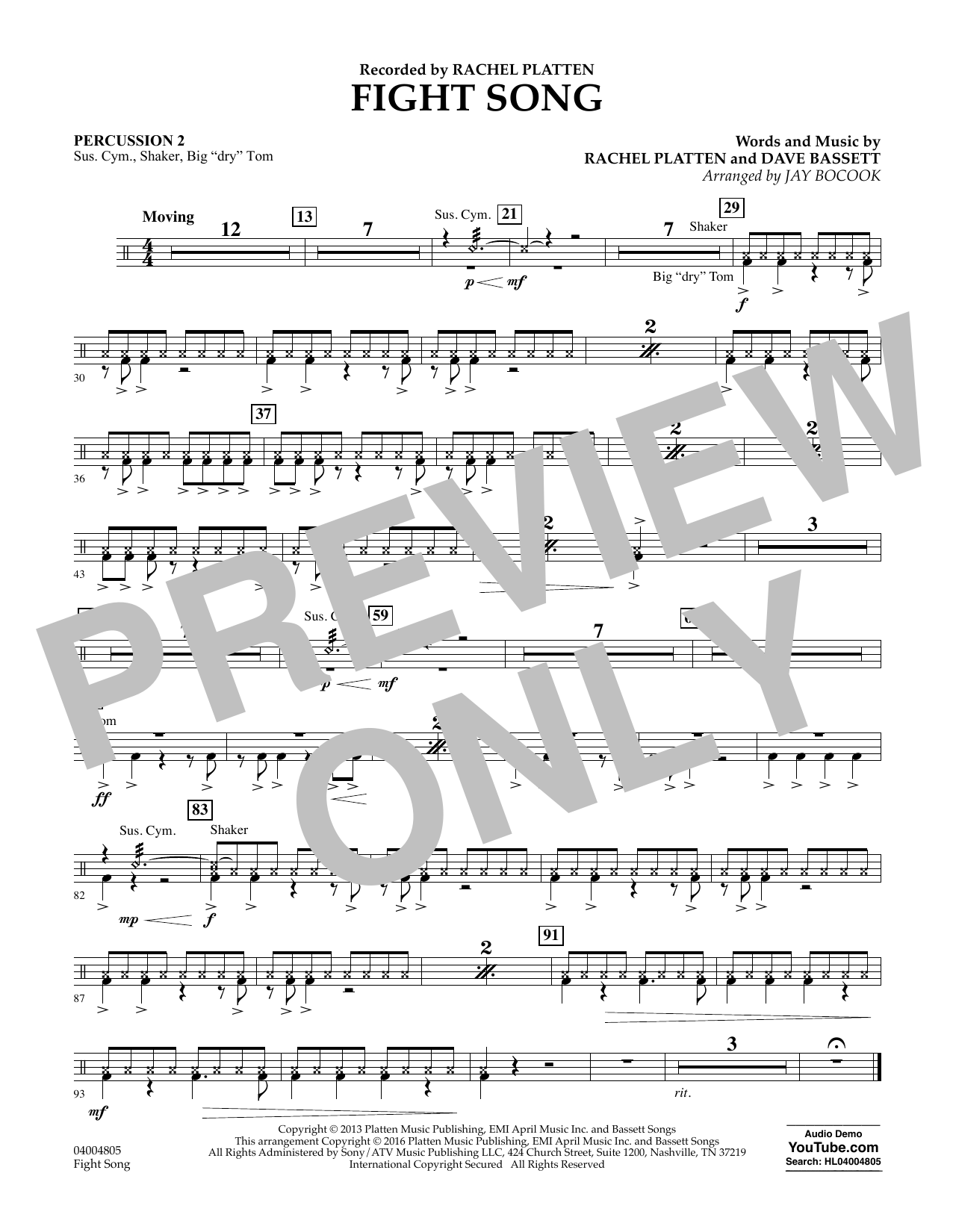 Fight Song - Percussion 2 (Concert Band)