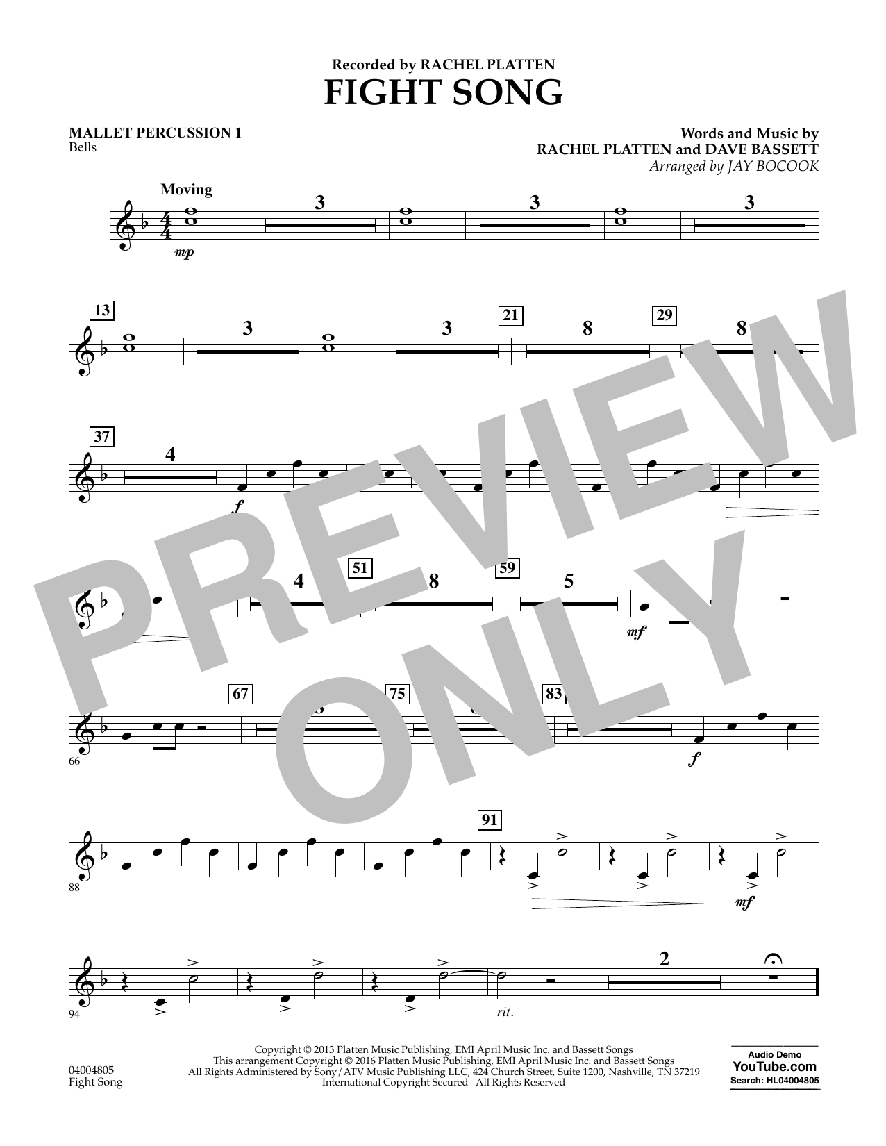 Fight Song - Mallet Percussion 1 (Concert Band)