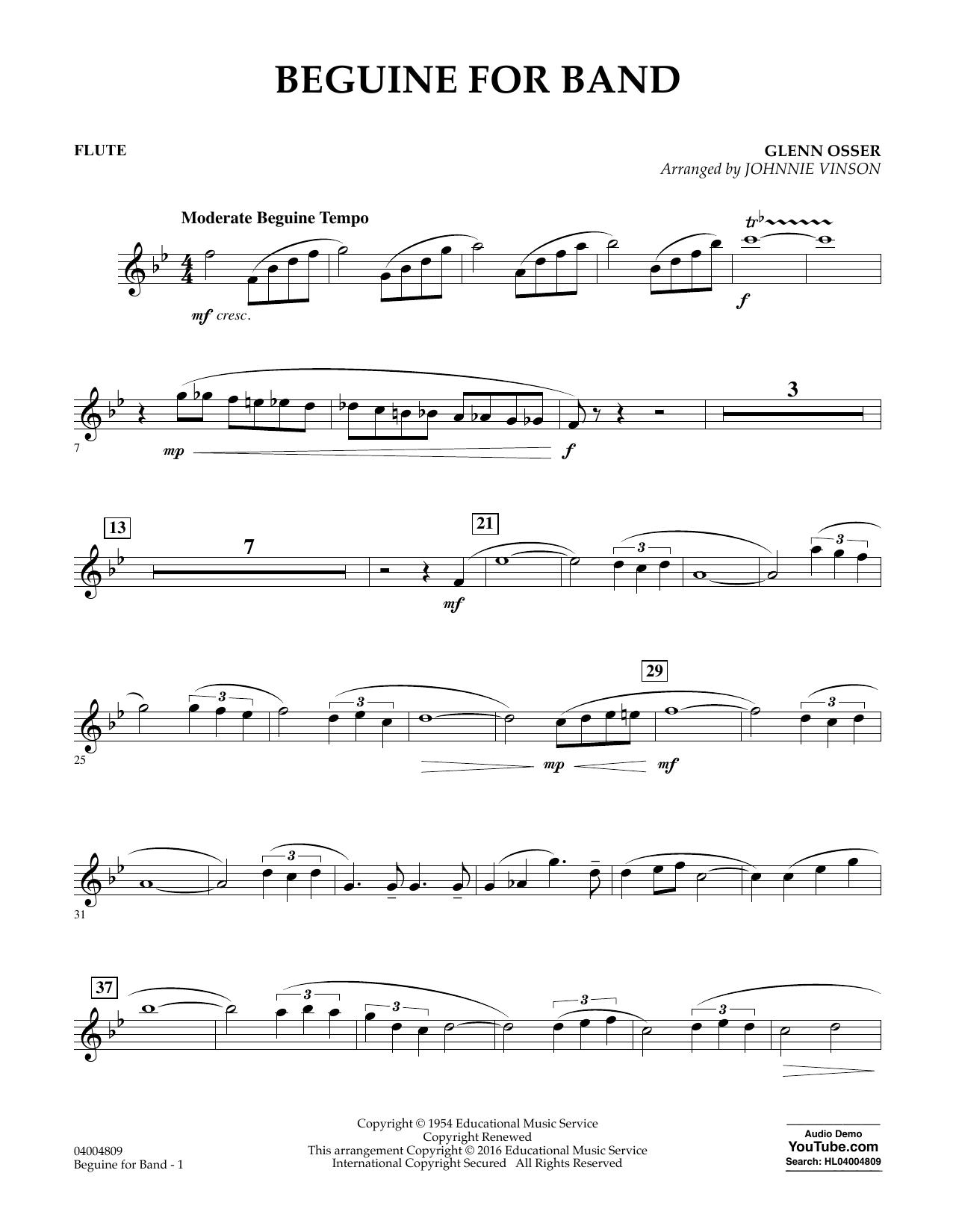 Beguine for Band - Flute (Concert Band)