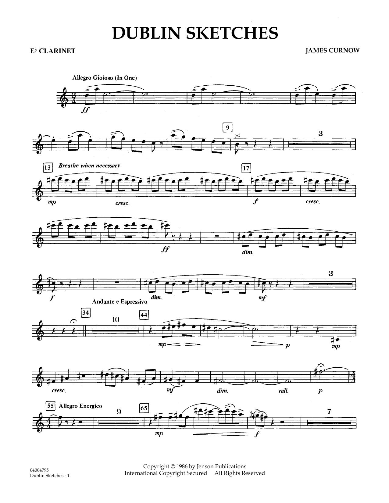 Dublin Sketches - Eb Clarinet (Concert Band)