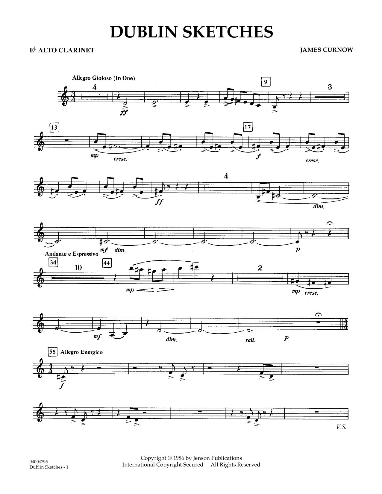 Dublin Sketches - Eb Alto Clarinet (Concert Band)