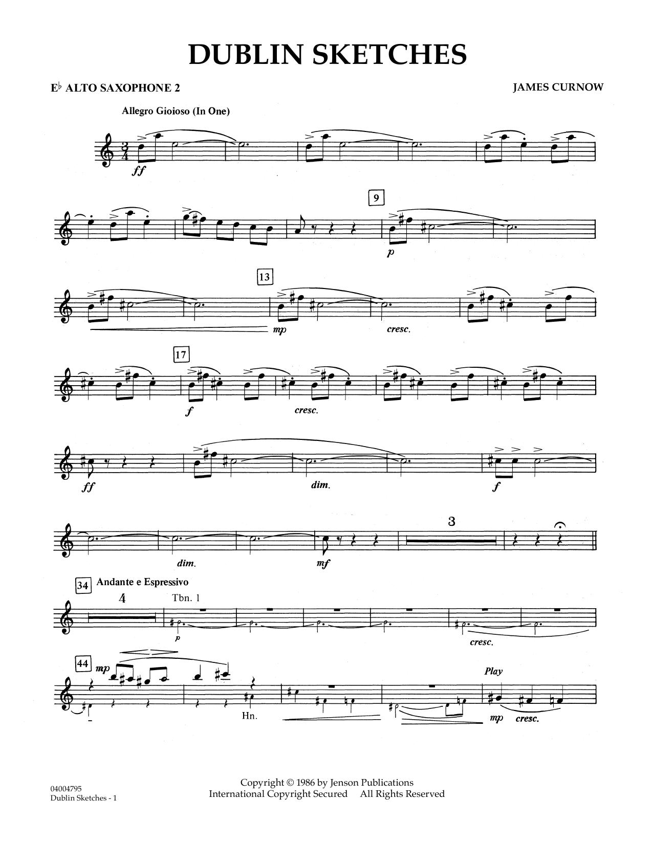 Dublin Sketches - Eb Alto Saxophone 2 (Concert Band)