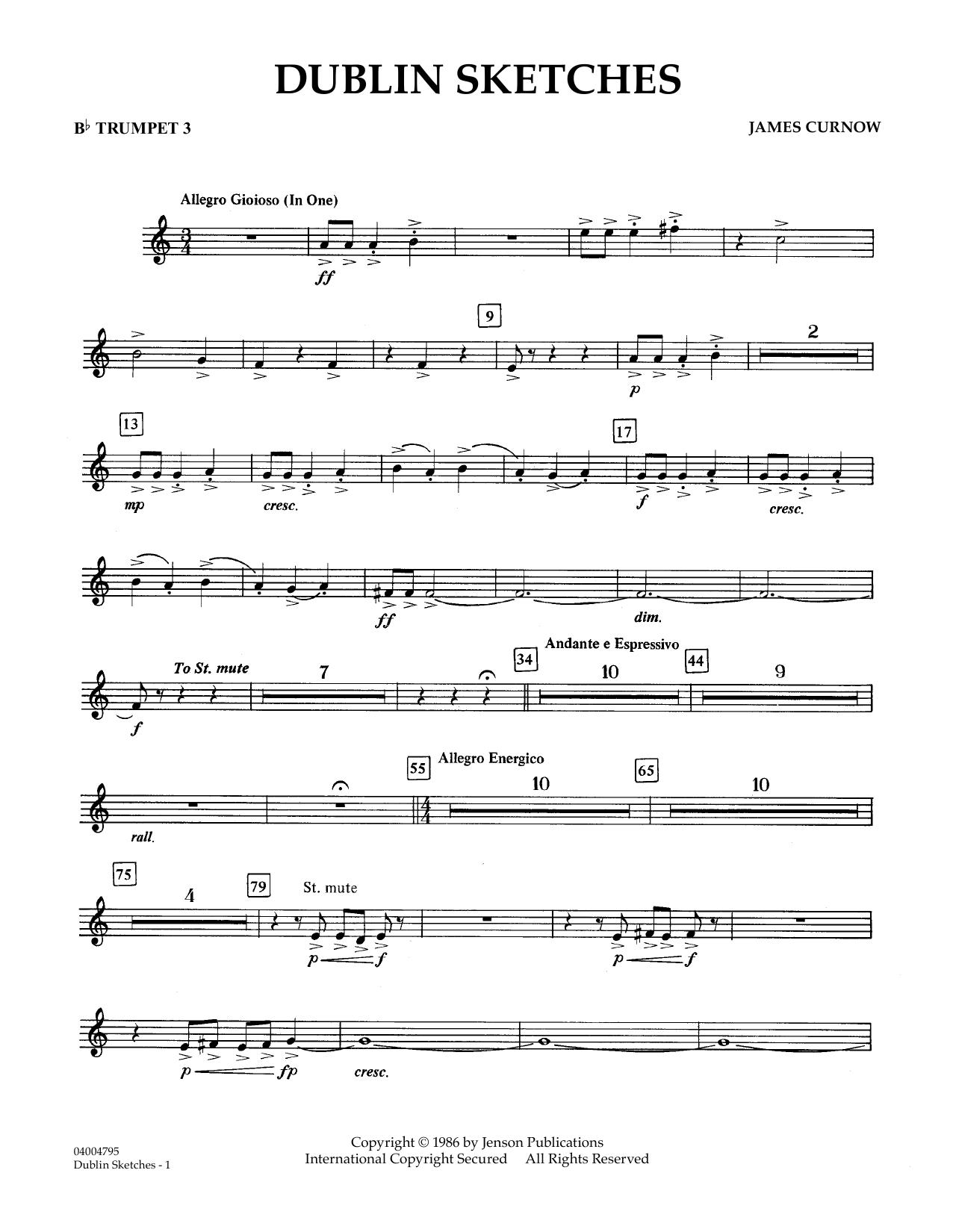 Dublin Sketches - Bb Trumpet 3 (Concert Band)