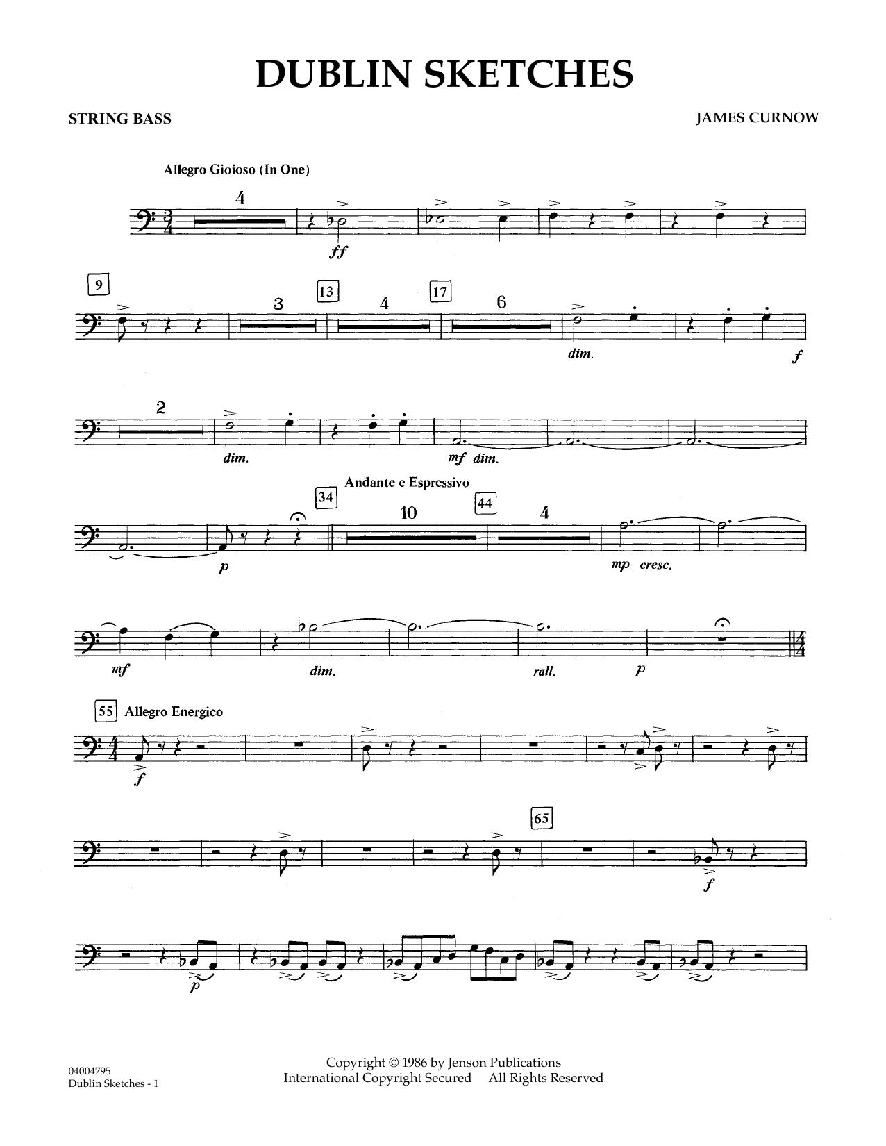 Dublin Sketches - String Bass (Concert Band)