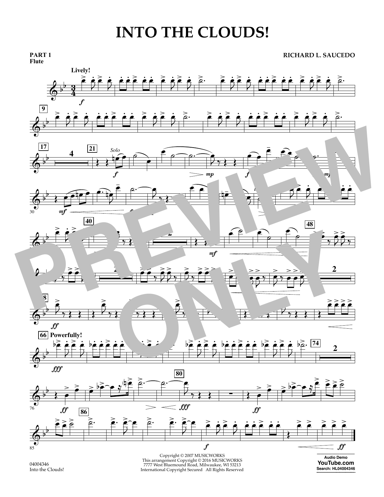 Into the Clouds! - Pt.1 - Flute (Concert Band: Flex-Band)