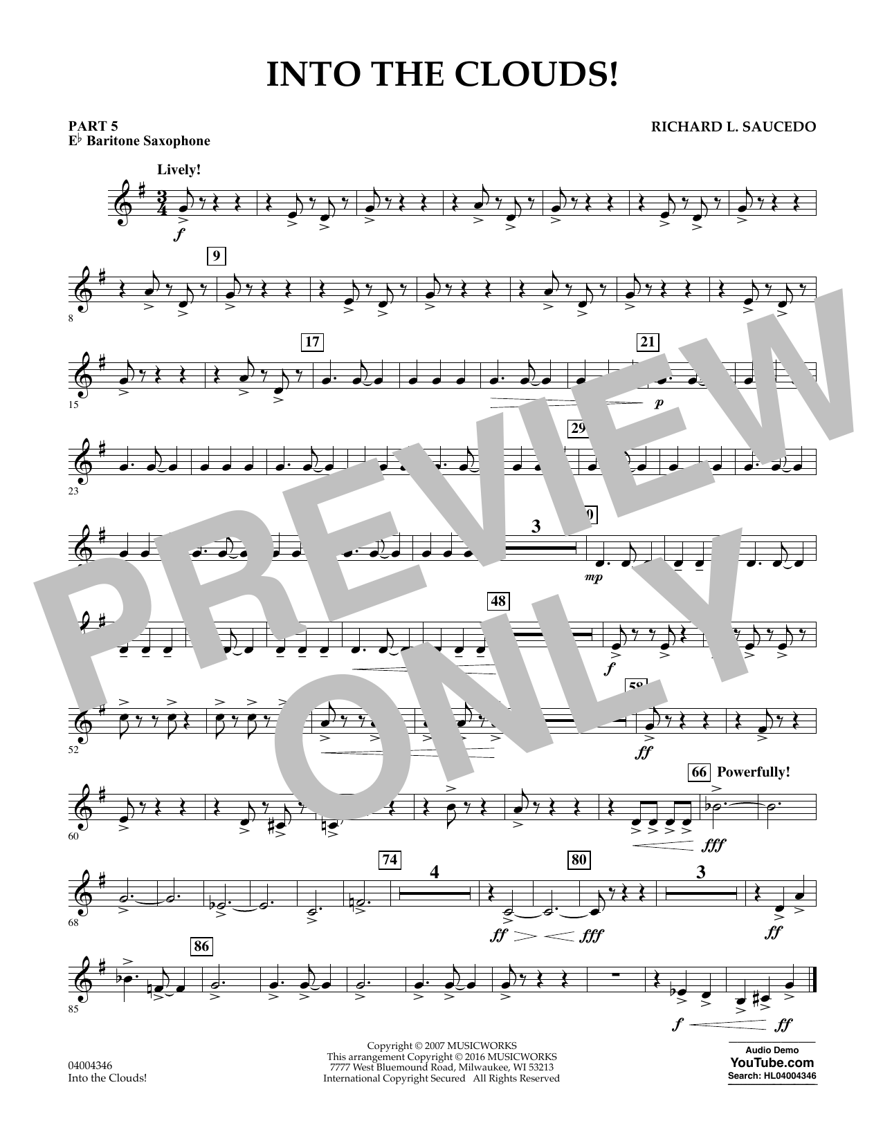 Into the Clouds! - Pt.5 - Eb Baritone Saxophone (Flex-Band)