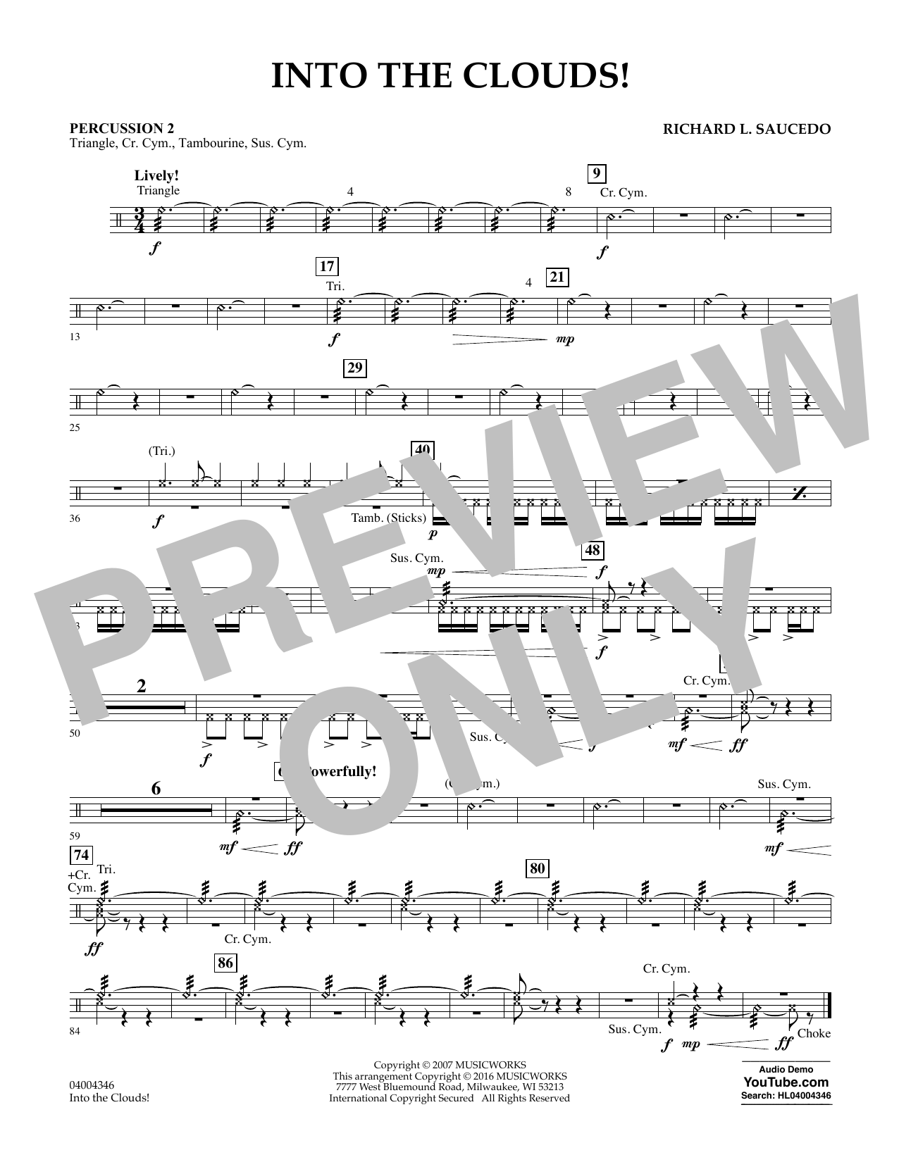 Into the Clouds! - Percussion 2 (Flex-Band)