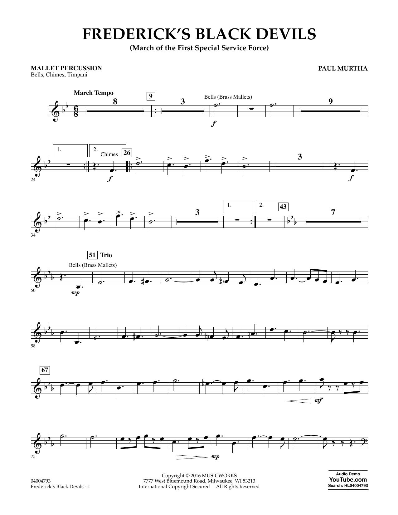 Frederick's Black Devils - Mallet Percussion (Concert Band)