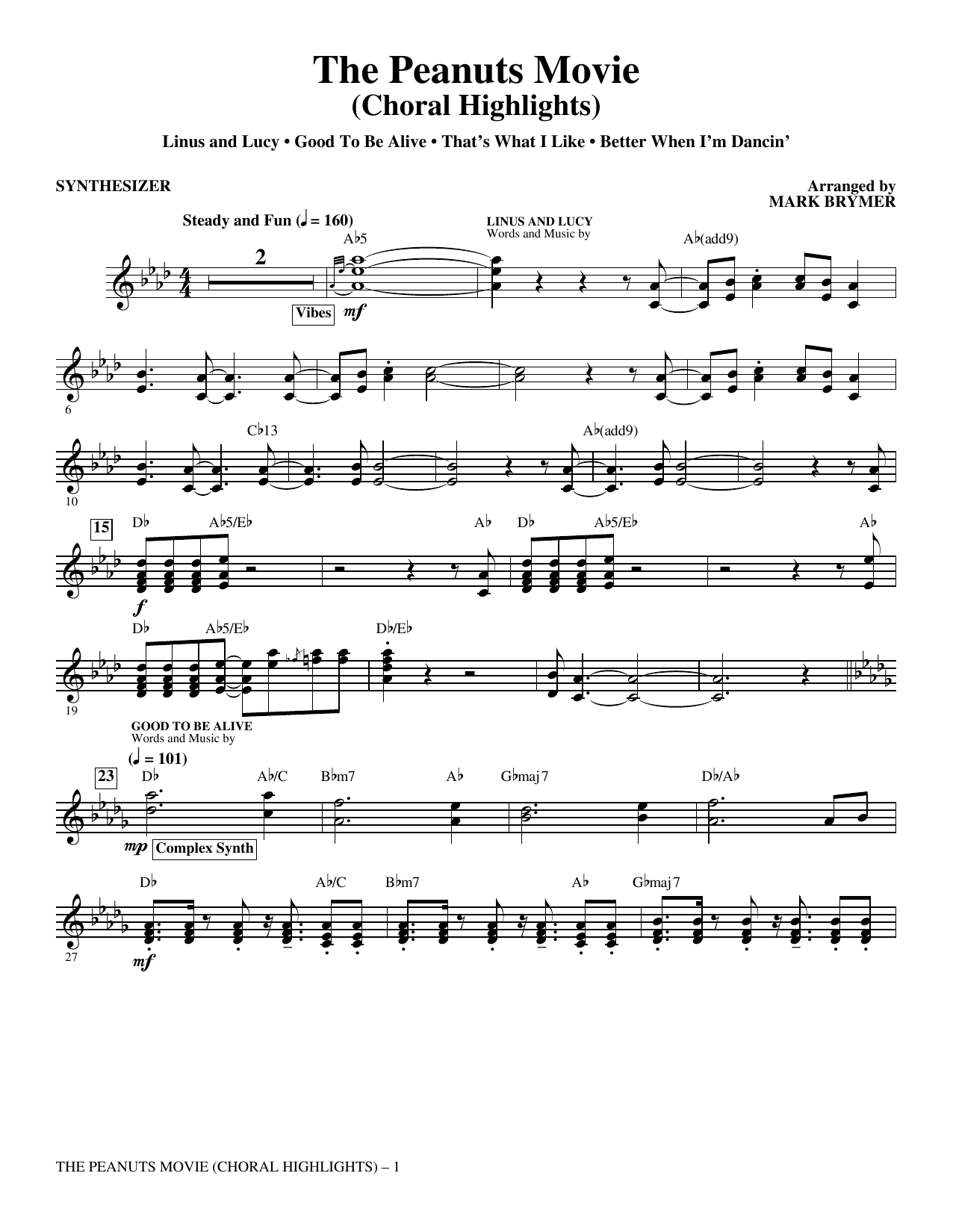 The Peanuts Movie (complete set of parts) sheet music for orchestra/band by Meghan Trainor, Mark Brymer and Thaddeus Dixon. Score Image Preview.