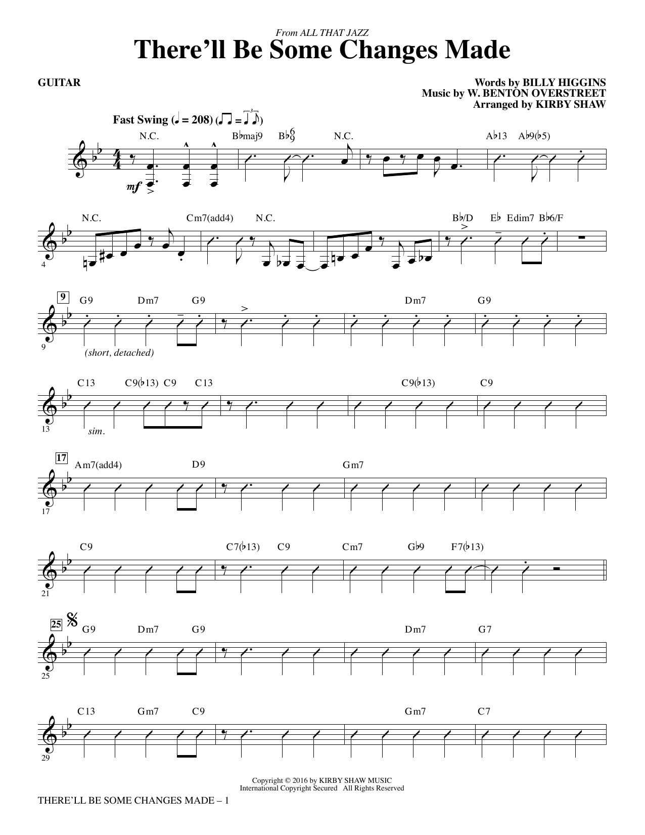 There'll Be Some Changes Made - Guitar Sheet Music