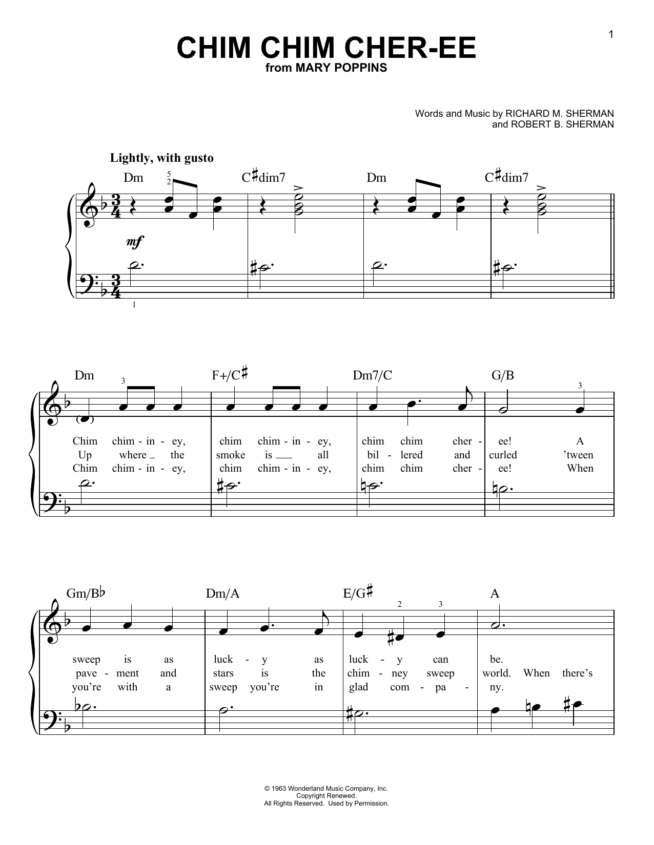 Chim Chim Cher-ee (Very Easy Piano)
