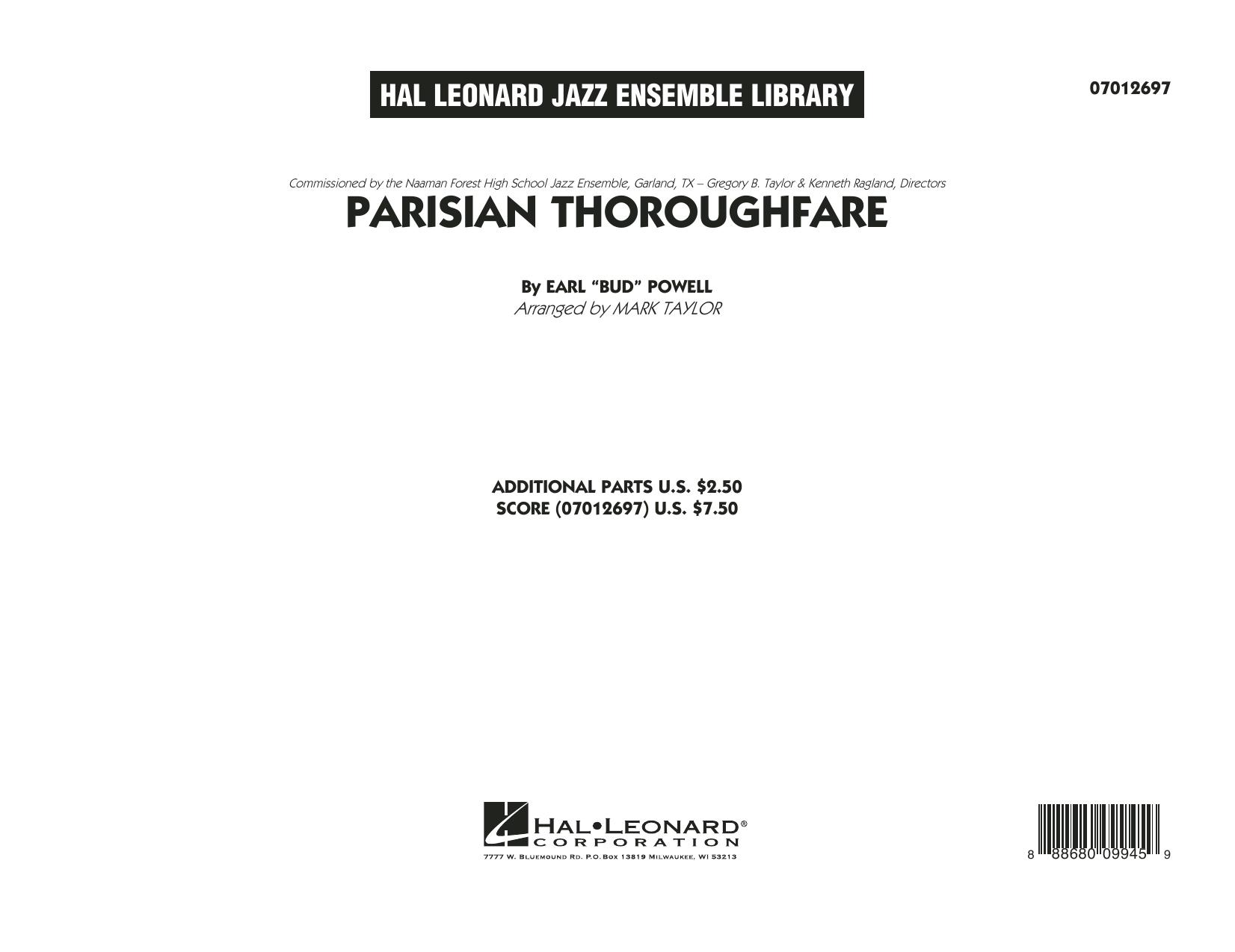 Parisian Thoroughfare - Conductor Score (Full Score) (Jazz Ensemble)