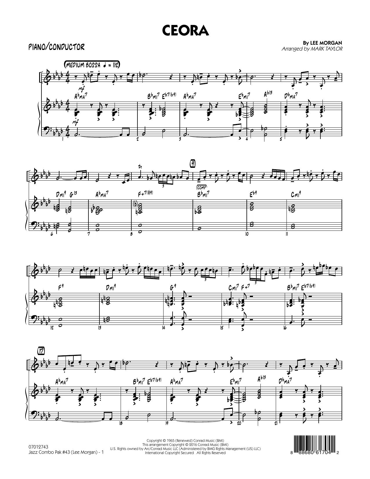 Jazz Combo Pak #43 (Lee Morgan) - Piano/Conductor (Jazz Ensemble)
