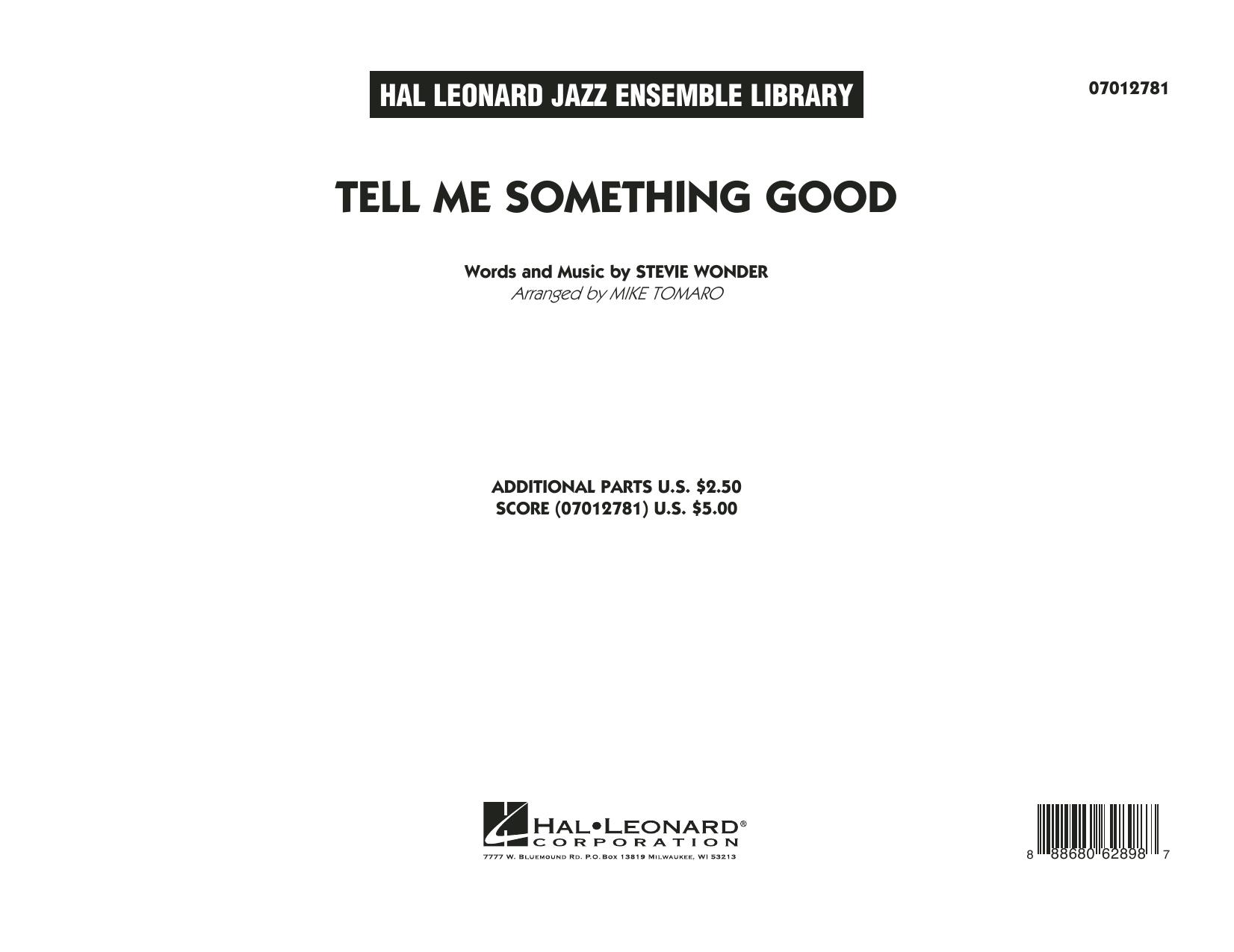 Tell Me Something Good - Conductor Score (Full Score) (Jazz Ensemble)