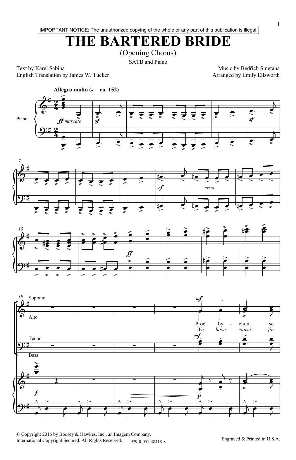 The Bartered Bride (SATB Choir)