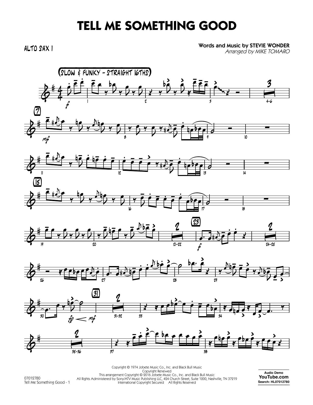 Tell Me Something Good - Alto Sax 1 (Jazz Ensemble)