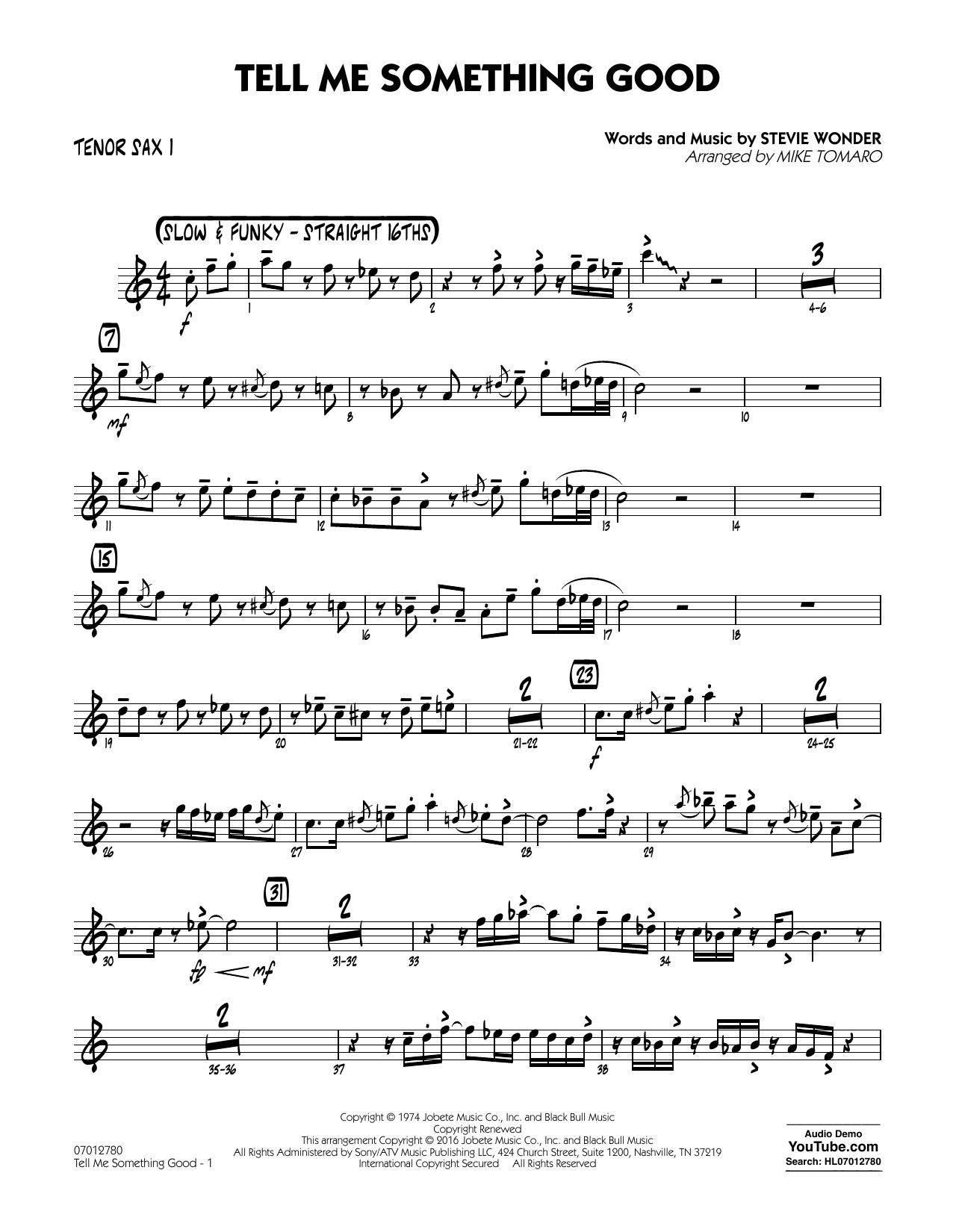 Tell Me Something Good - Tenor Sax 1 (Jazz Ensemble)