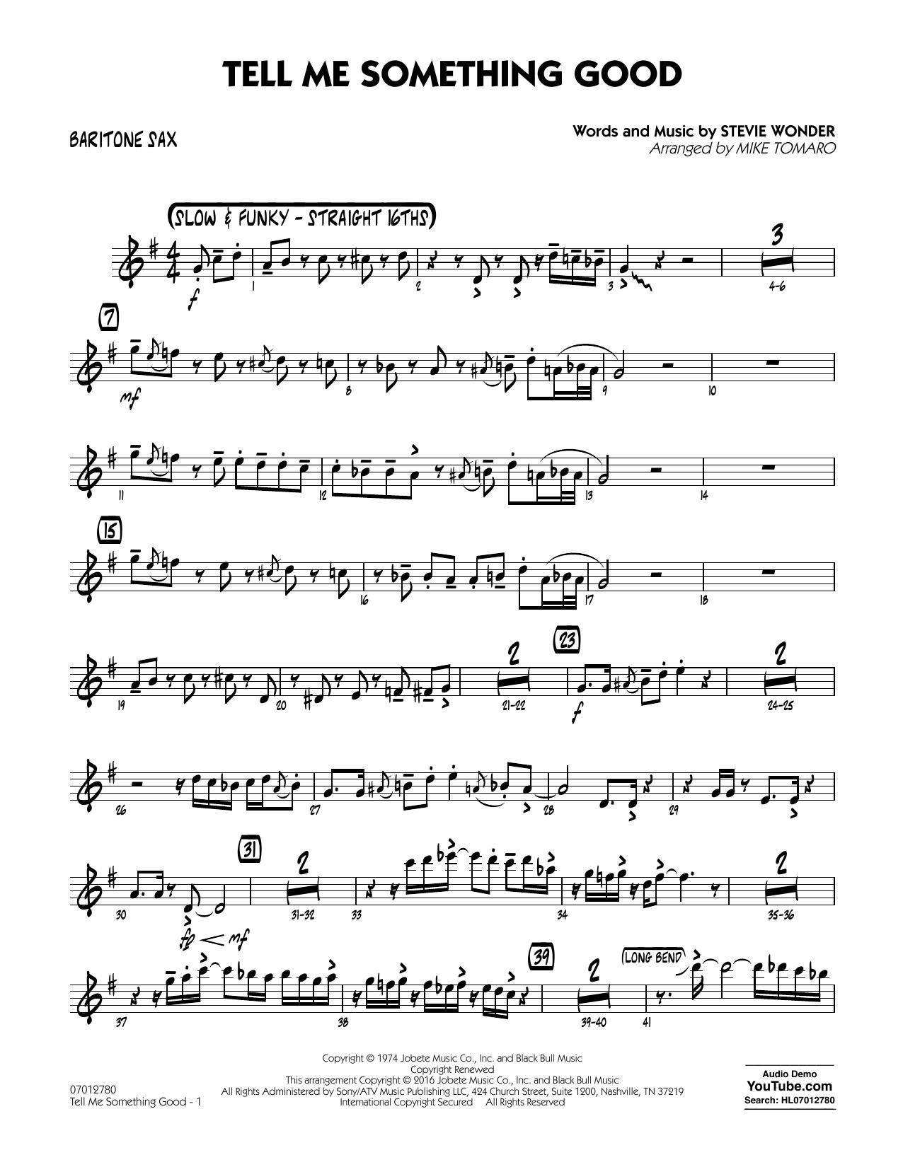 Tell Me Something Good - Baritone Sax (Jazz Ensemble)