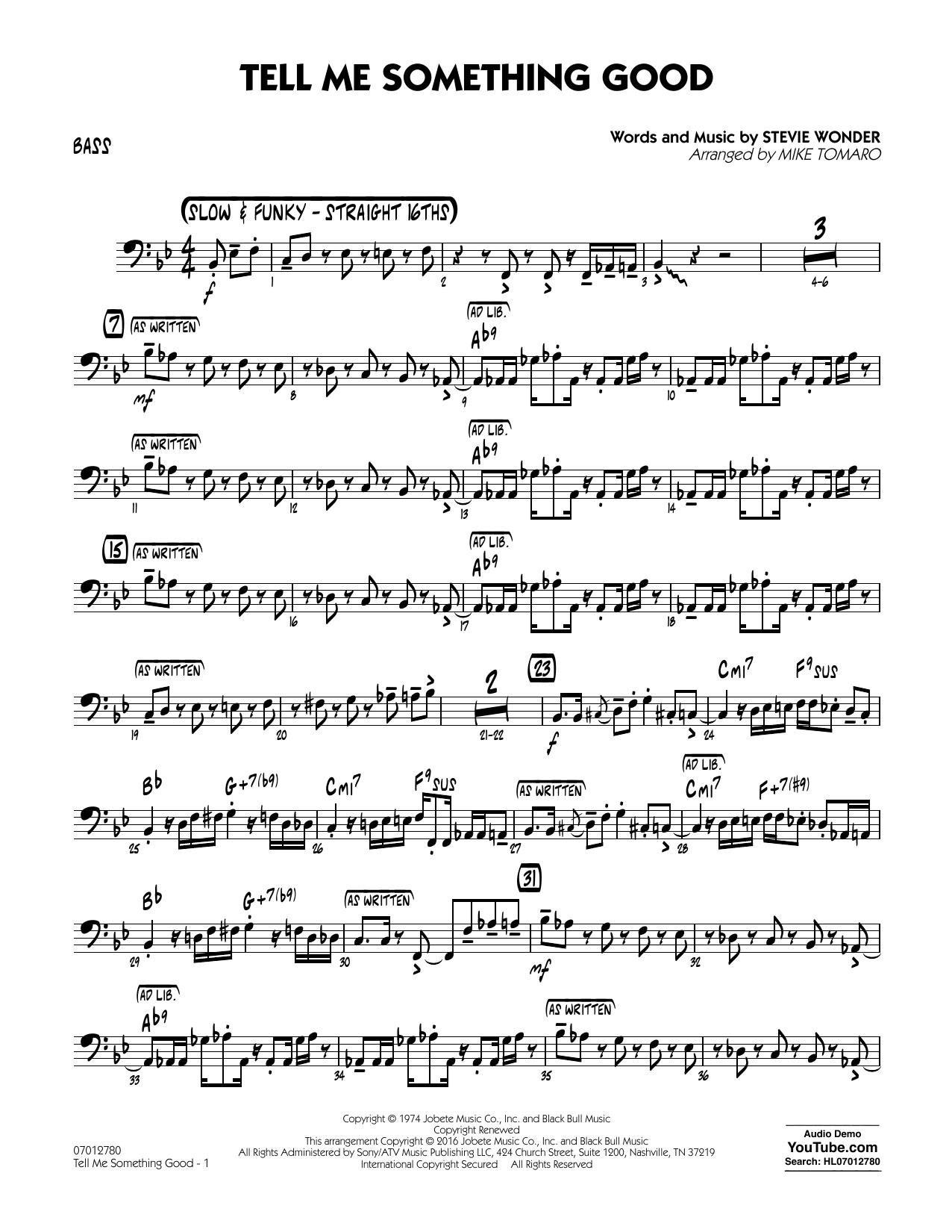 Tell Me Something Good - Bass (Jazz Ensemble)