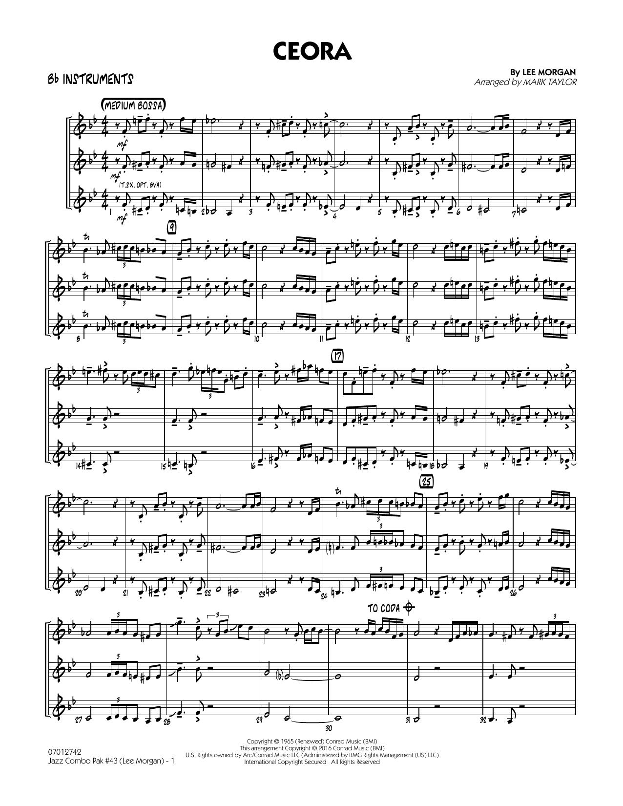 Jazz Combo Pak #43 (Lee Morgan) - Bb Instruments (Jazz Ensemble)