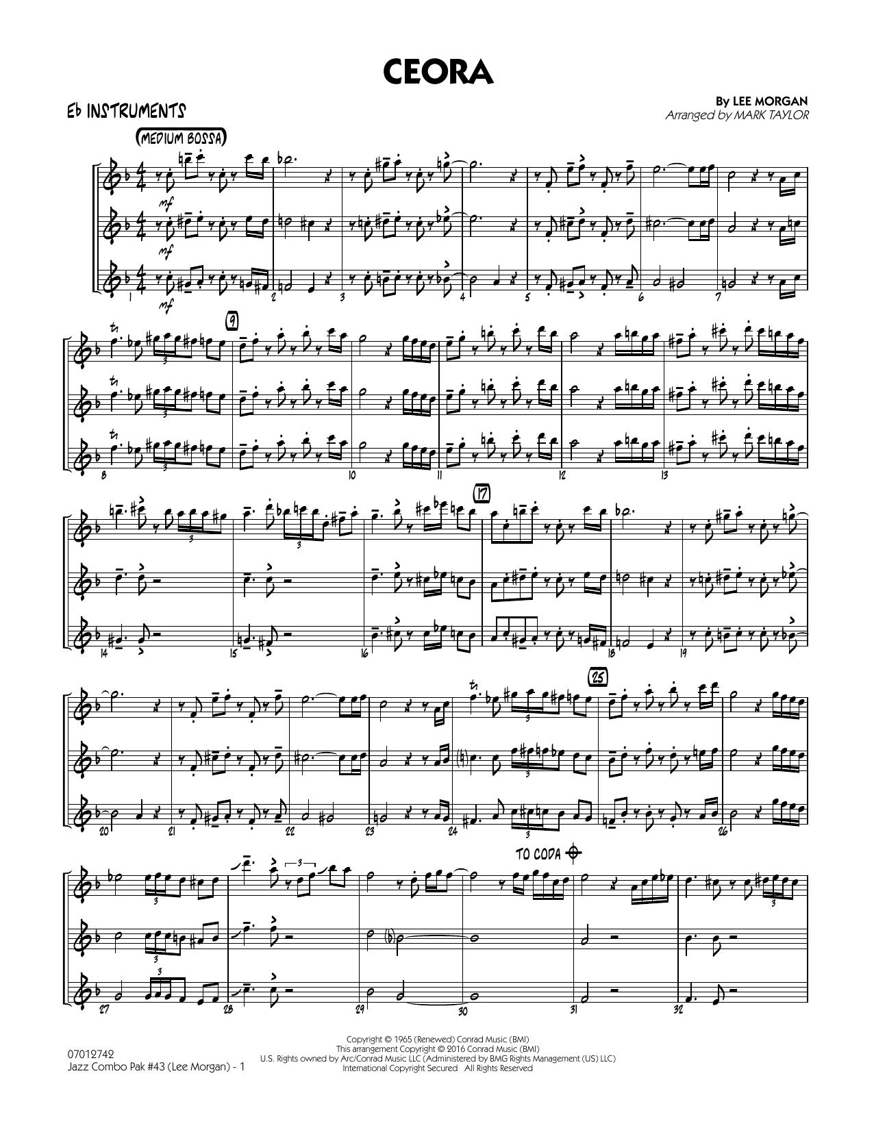 Jazz Combo Pak #43 (Lee Morgan) - Eb Instruments (Jazz Ensemble)