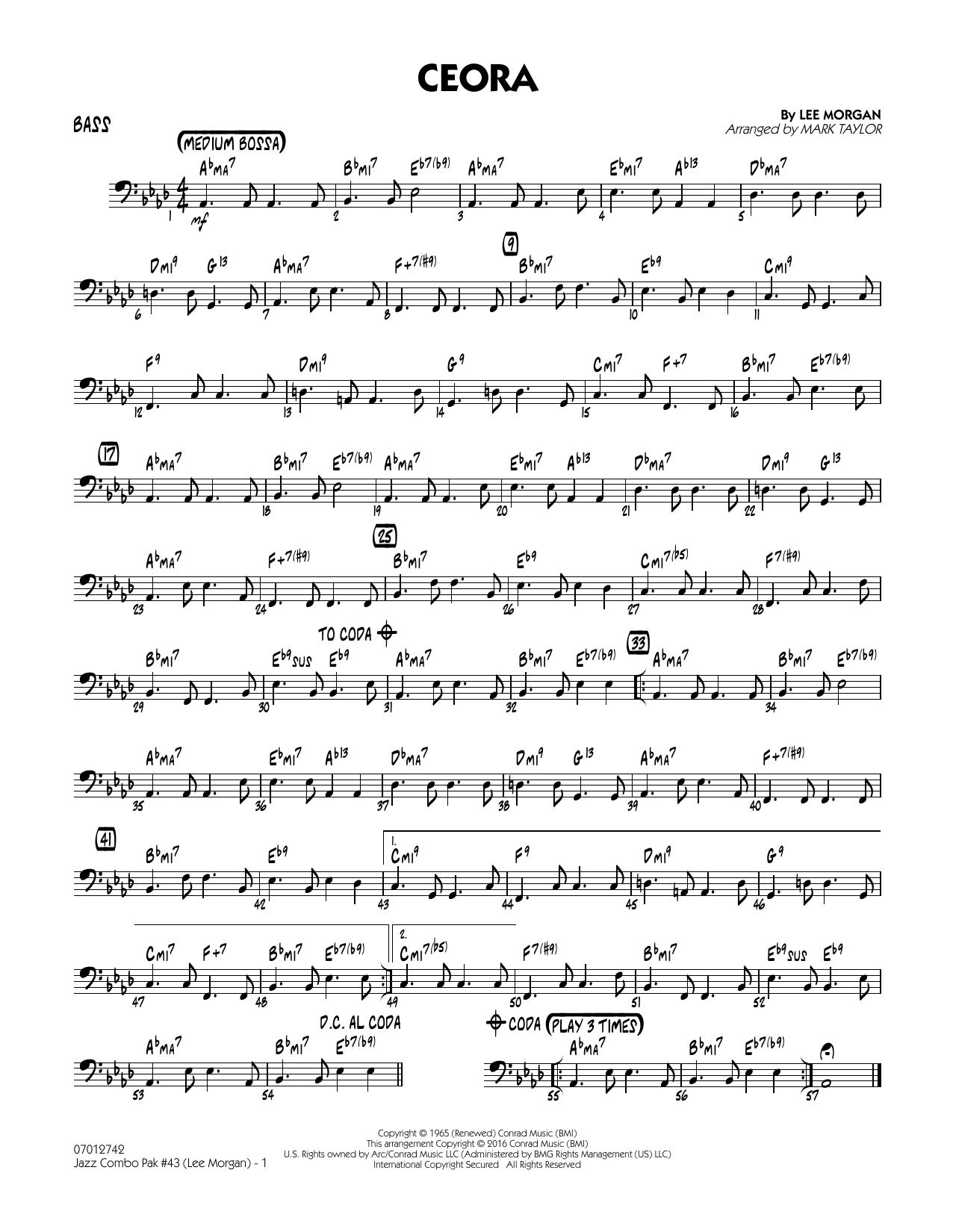 Jazz Combo Pak #43 (Lee Morgan) - Bass (Jazz Ensemble)