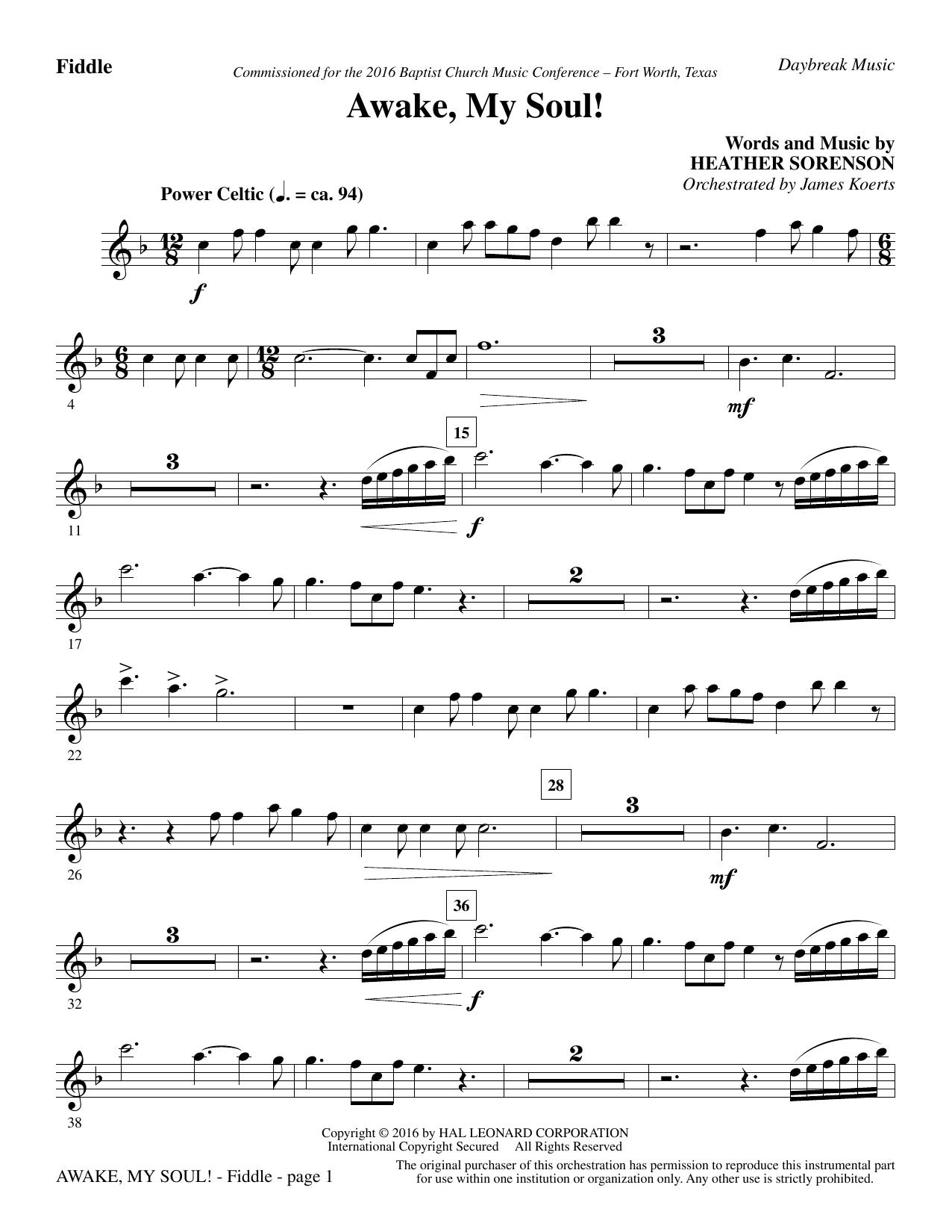 Awake, My Soul! - Fiddle (Choir Instrumental Pak)