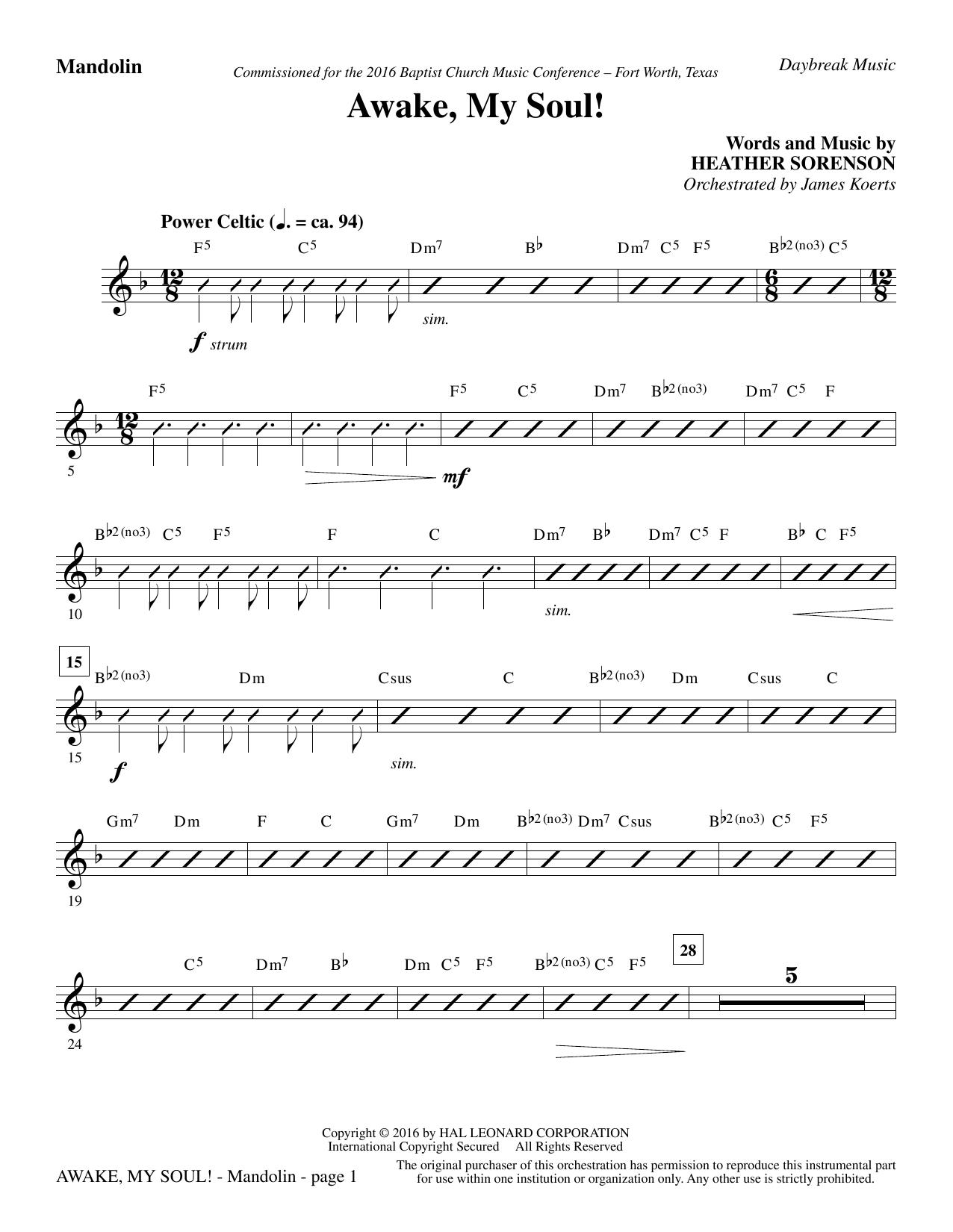 Awake, My Soul! - Mandolin (Choir Instrumental Pak)