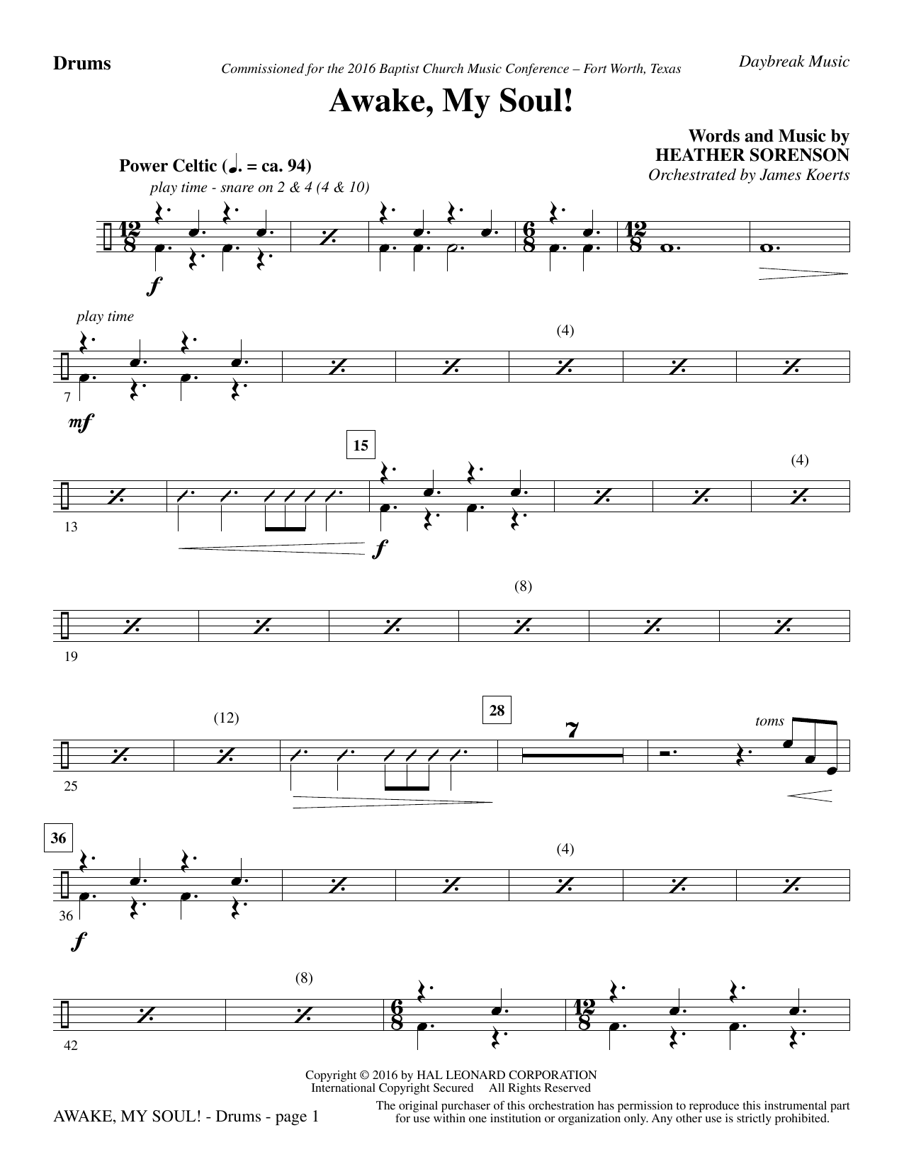 Awake, My Soul! - Drums (Choir Instrumental Pak)