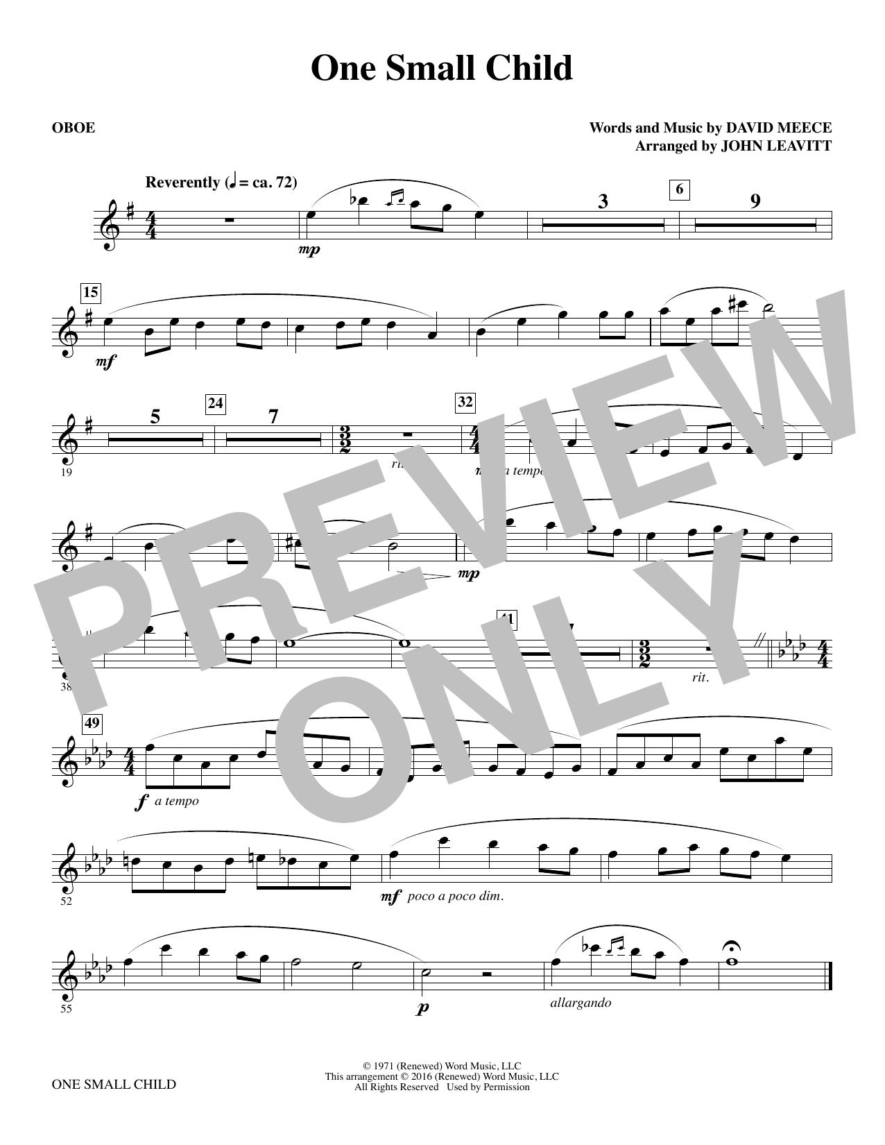 One Small Child - Oboe (Choir Instrumental Pak)