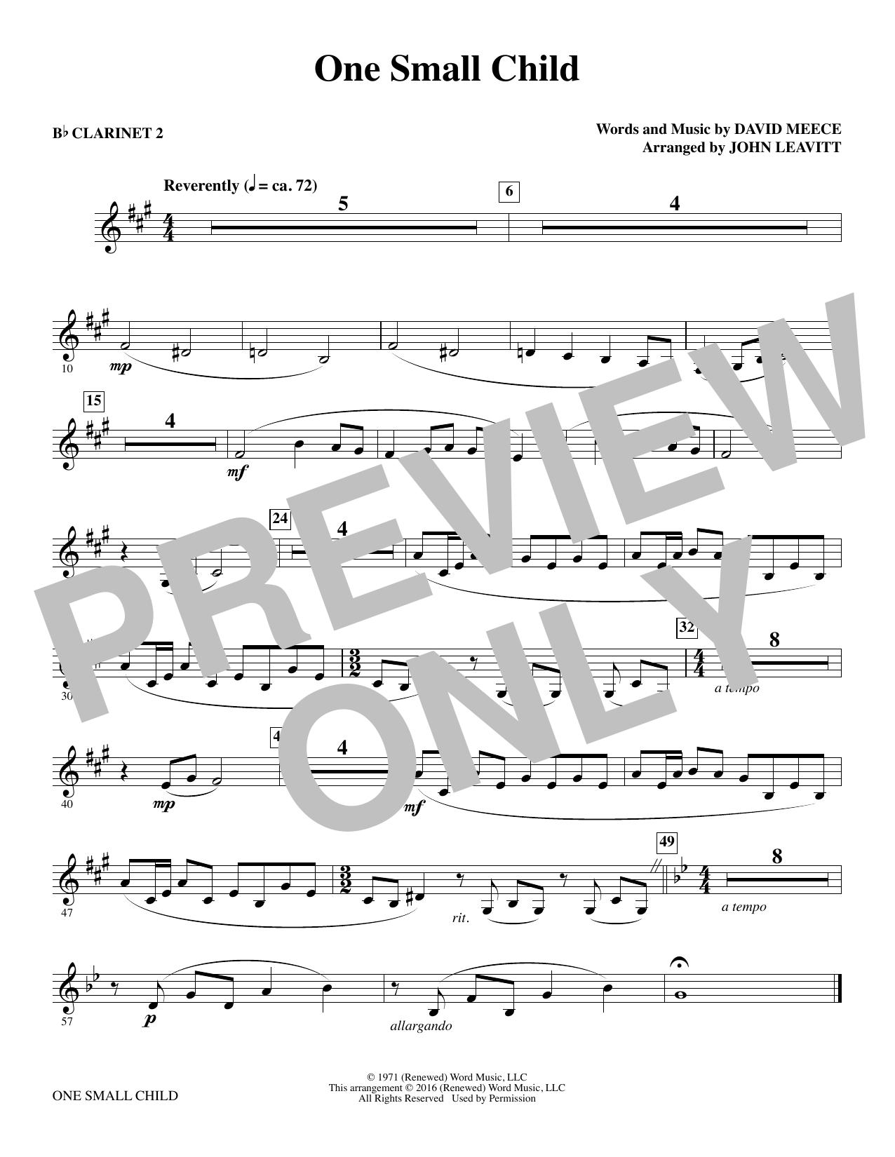 One Small Child - Bb Clarinet 2 Sheet Music