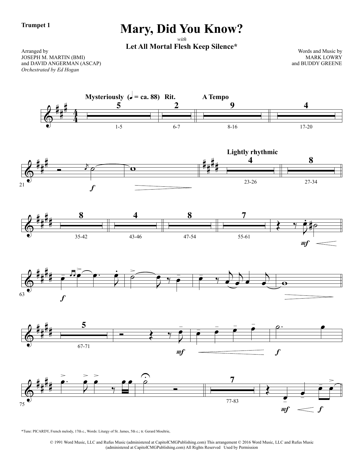 Mary, Did You Know? - Bb Trumpet 1 Sheet Music