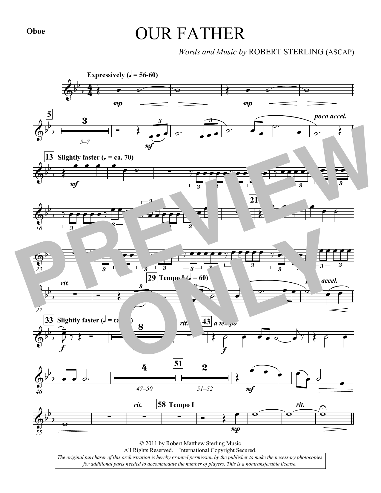 Our Father - Oboe (Choir Instrumental Pak)